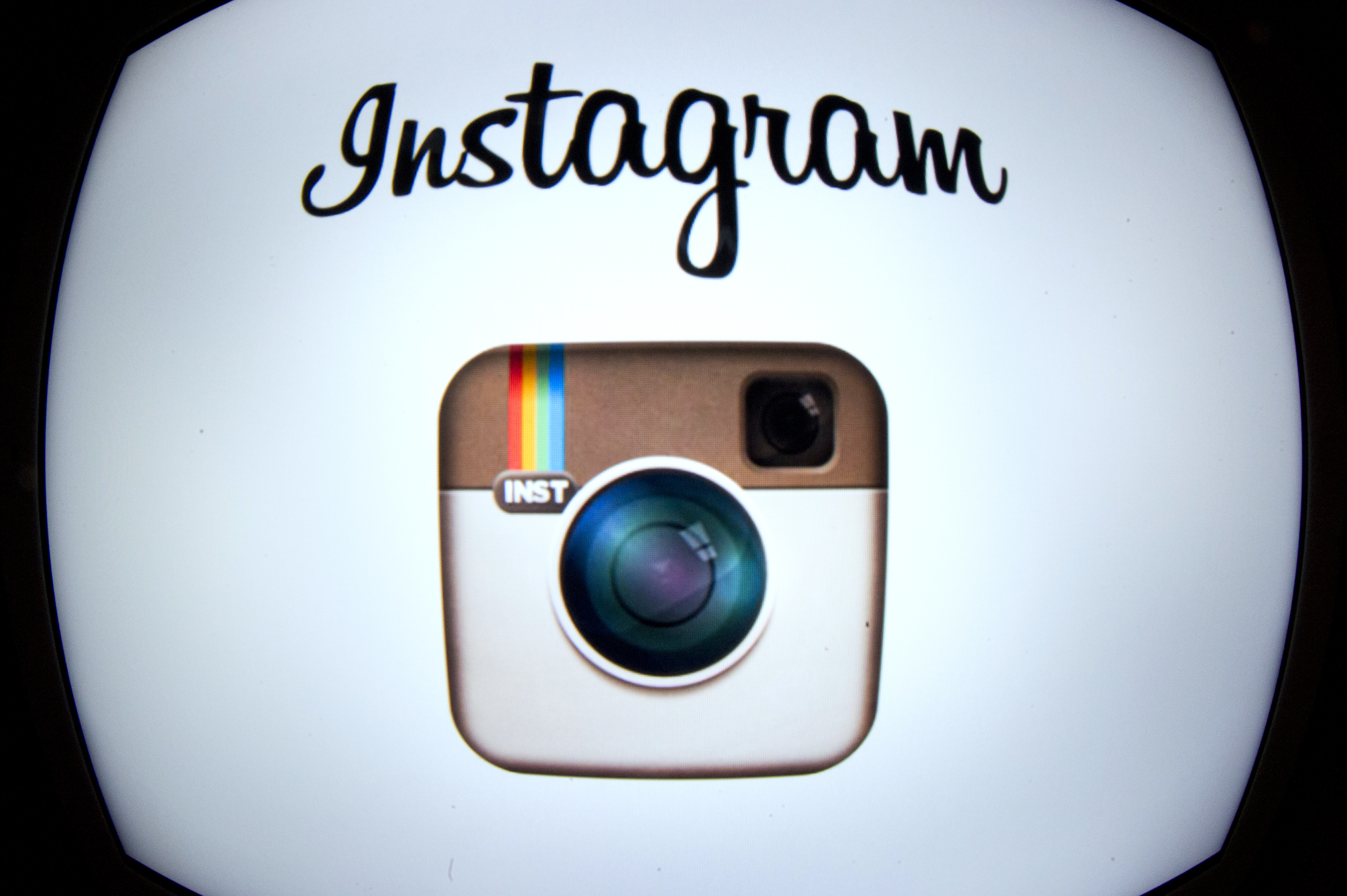 The Instagram logo is displayed on a smartphone on December 20, 2012 in Paris.