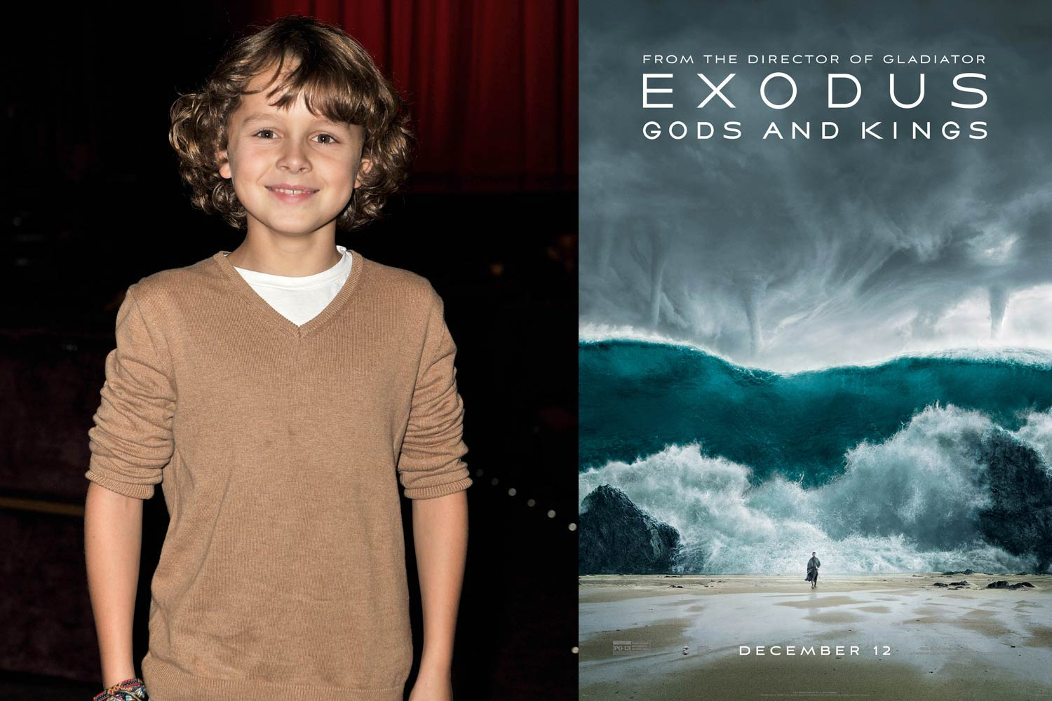 <strong>Isaac Andrews, <i>Exodus: Gods and Kings</i></strong>                                   In Exodus, God speaks through Malak, a young boy played by Isaac Andrews. The British preteen is no stranger to the ancient world, having previously appeared in the Dwayne Johnson <i>Hercules</i>; his next big role is in the <i>Avengers</i> sequel.