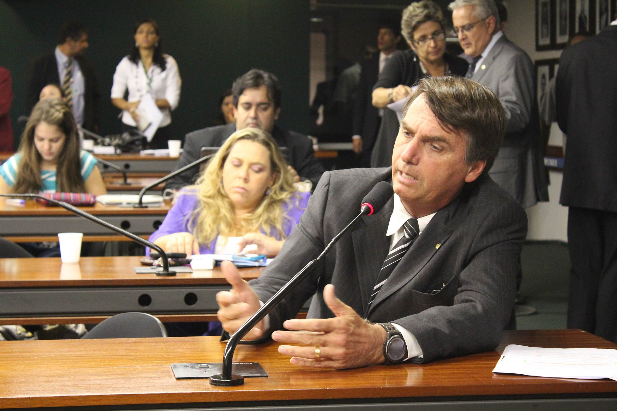 Brazilian Congressman Jair Bolsonaro seen in 2011