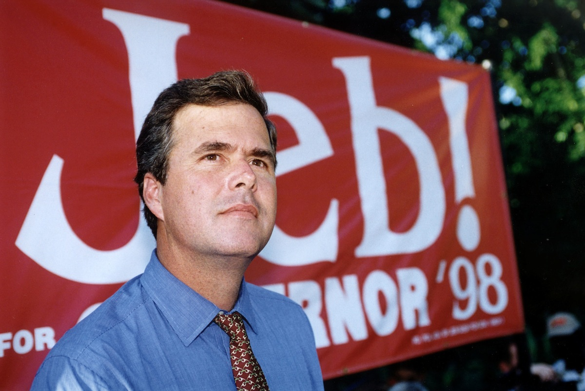 GOP gubernatorial candidate Jeb Bush during a campaign event on Oct. 1, 1998