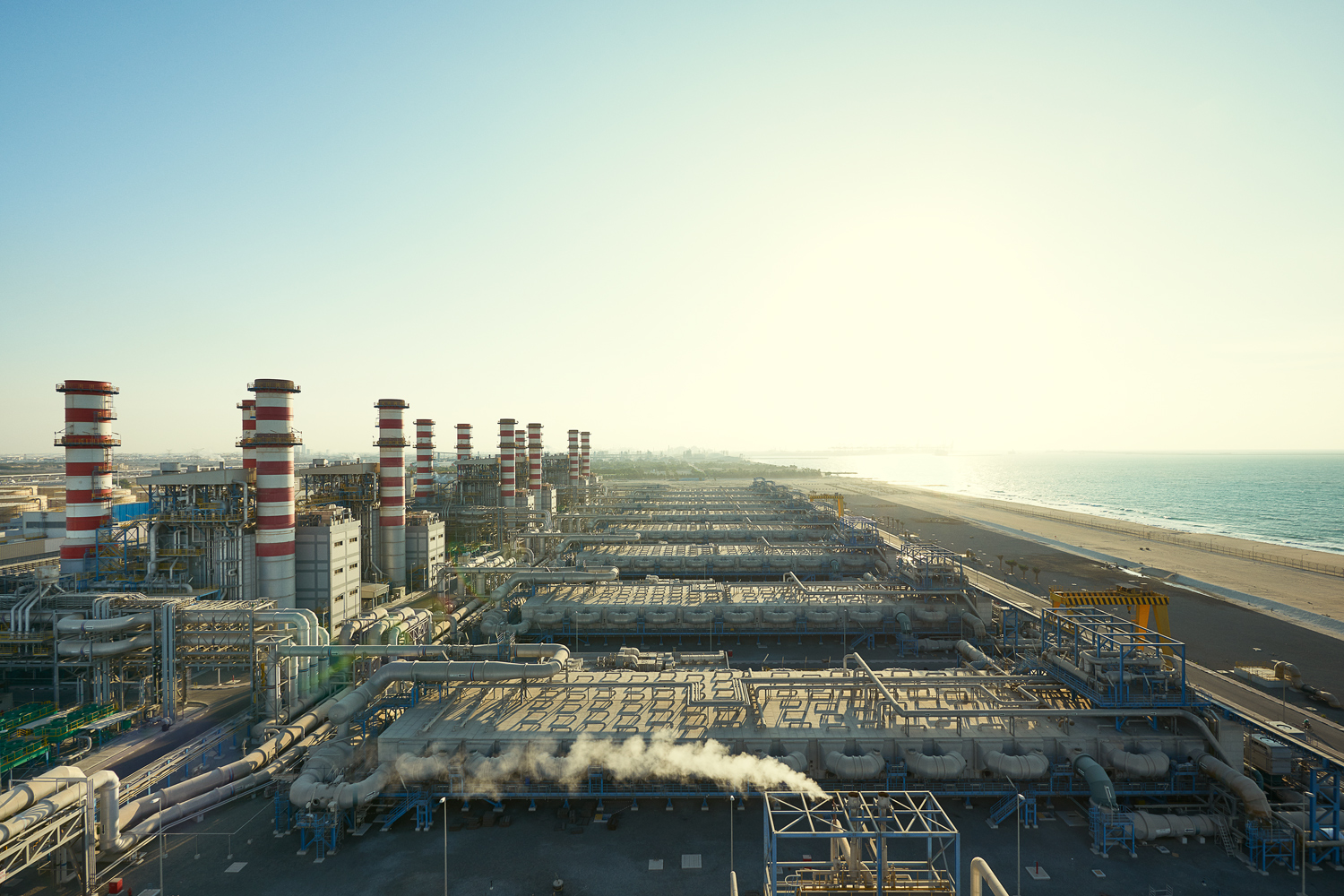 This sprawling power and desalination plant on Dubai's coast produces almost 8,000 megawatts of electricity and over 550 million US gallons of water a day.