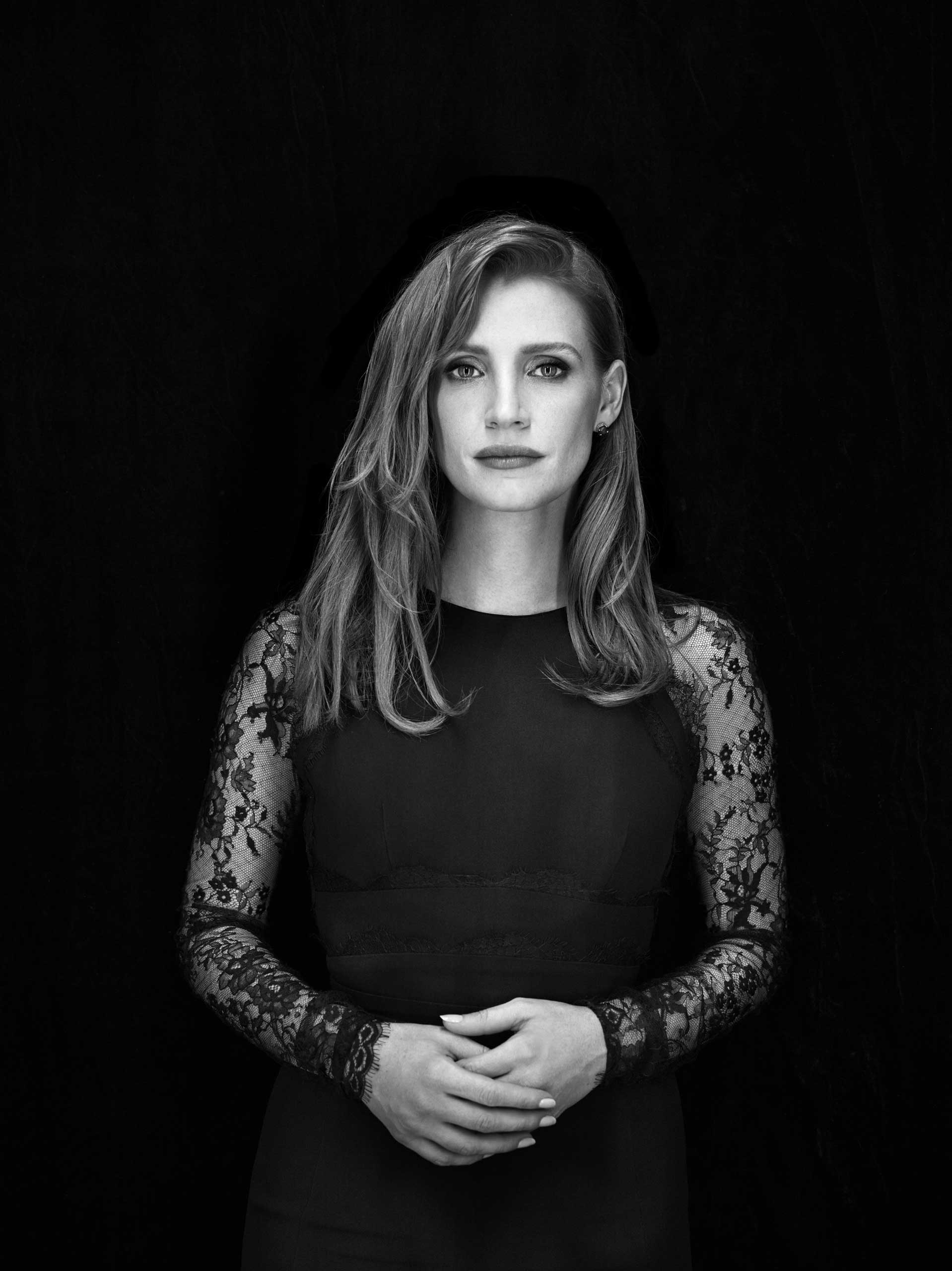 Jessica Chastain. From  The Art of Science.   November 10, 2014 issue.