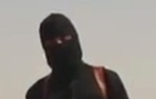 The ISIS executioner as seen in the James Foley video.