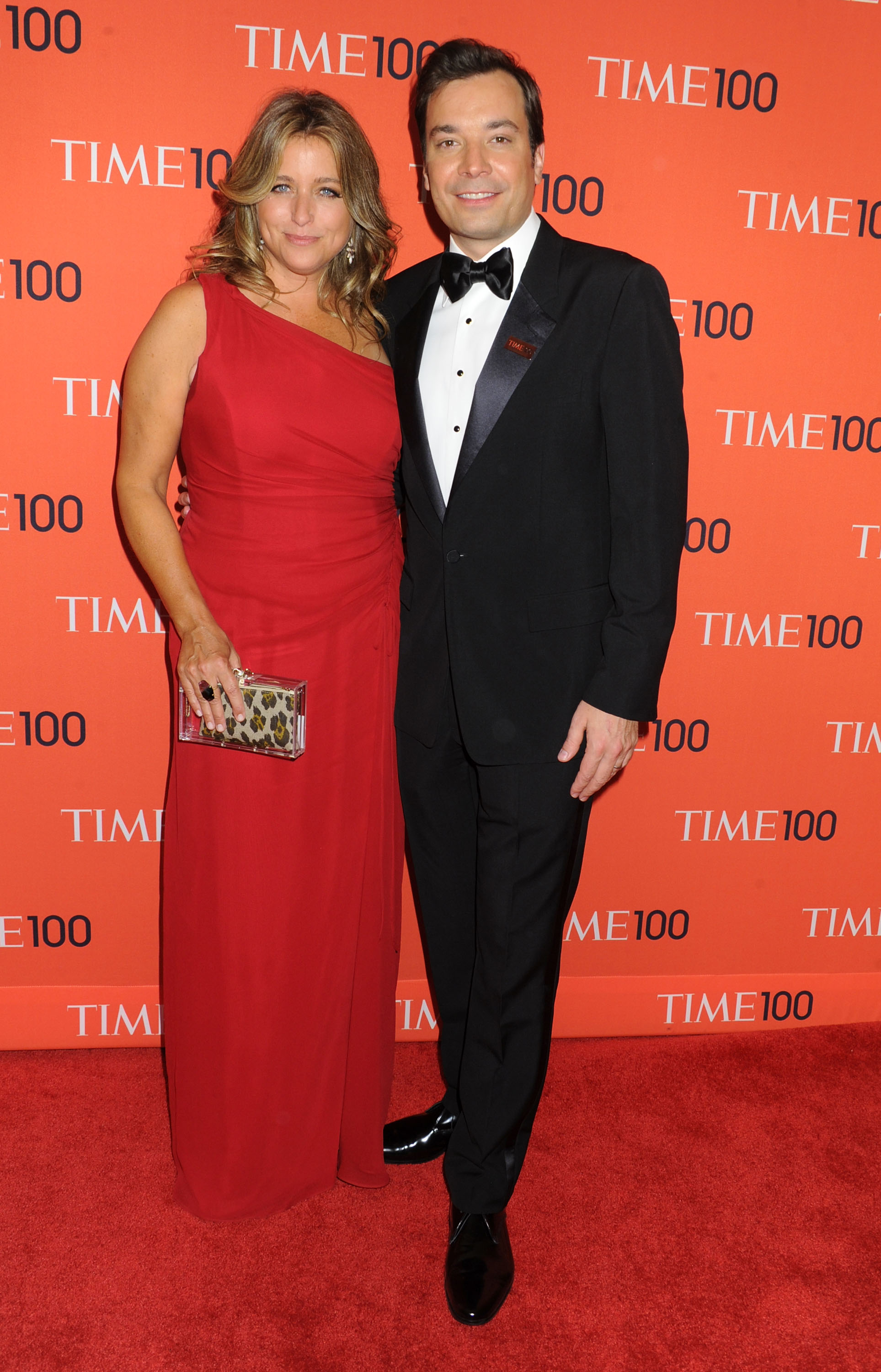 TV host Jimmy Fallon and Nancy Juvonen attend the 2013 Time 100 Gala at Frederick P. Rose Hall, Jazz at Lincoln Center on April 23, 2013 in New York City.