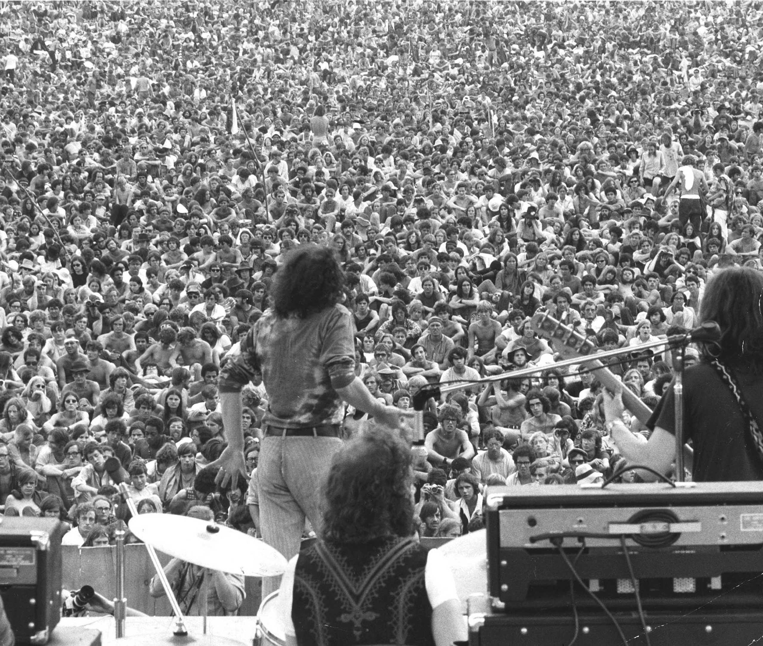 Joe Cocker performs at Woodstock, 1969.