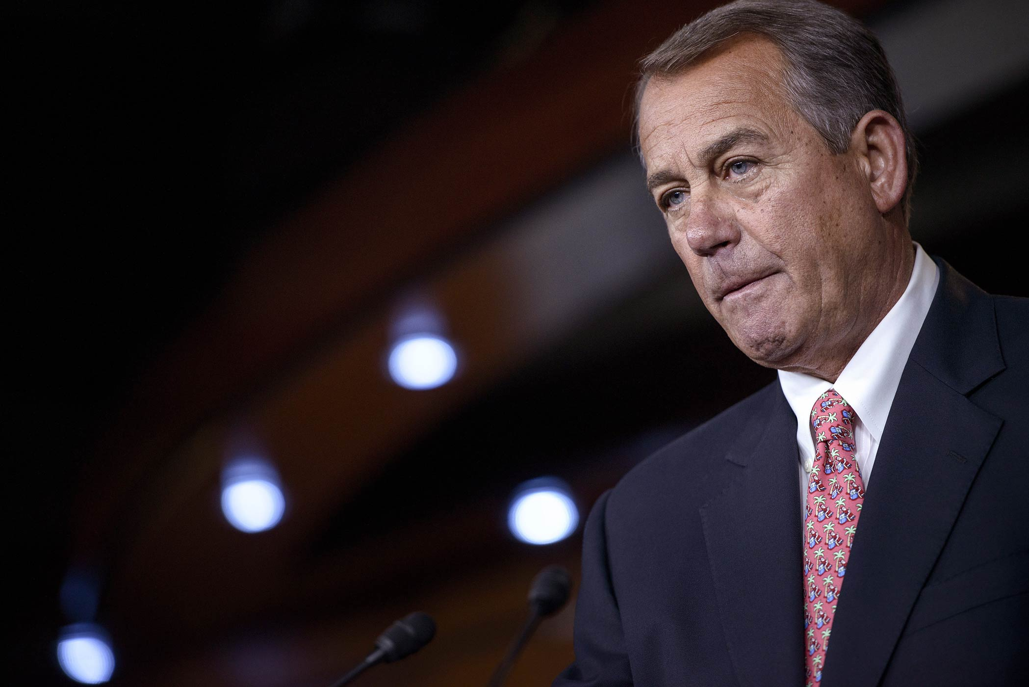 Speaker of the House John Boehner attends a press conference on Capitol Hill on December 11, 2014 in Washington, D.C.