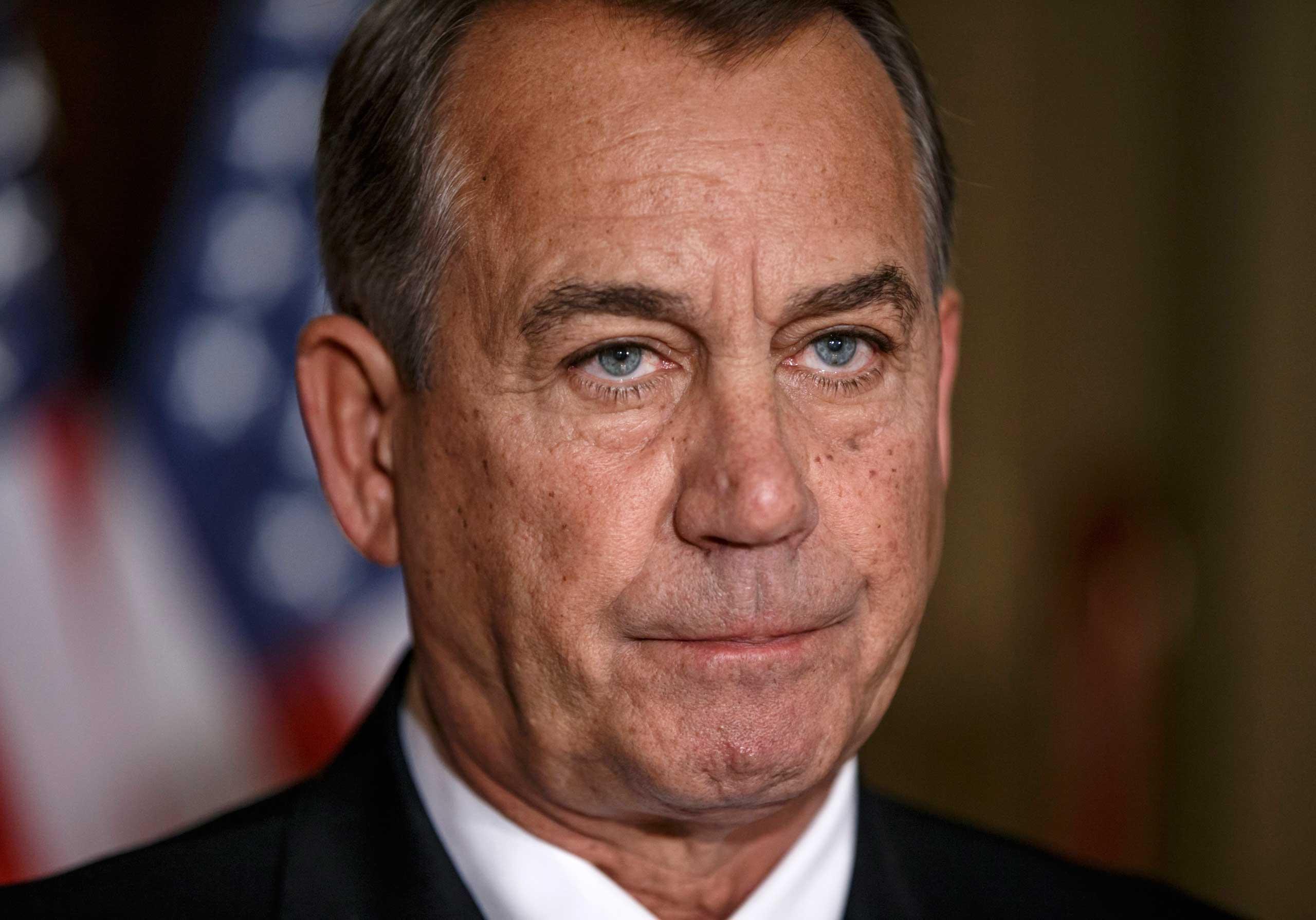 House Speaker John Boehner of Ohio in Congress on Nov. 21, 2014 in Washington.