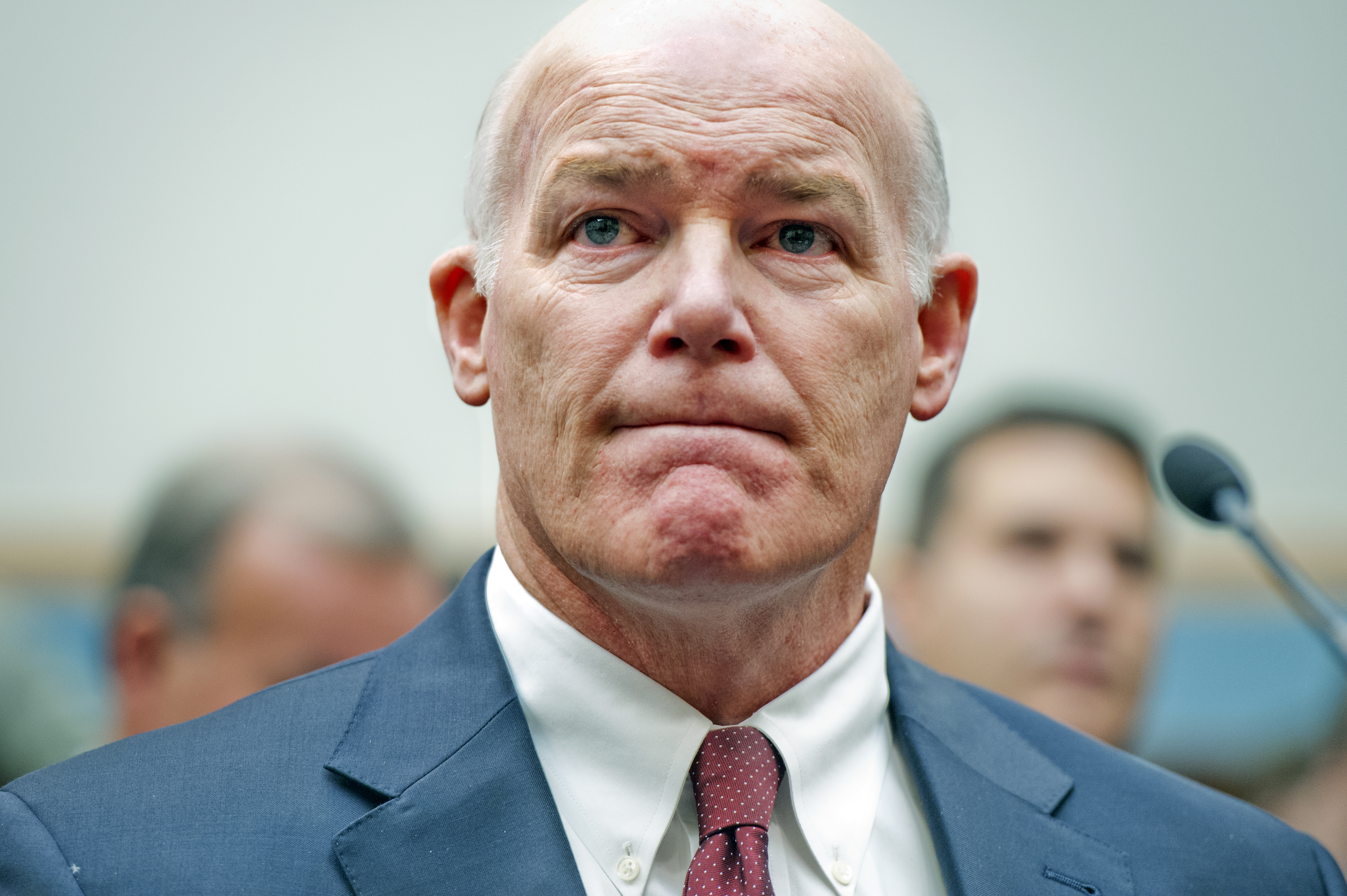 Acting Secret Service Director Joseph Clancy prepares to testify before a House Judiciary Committee hearing on Nov. 19, 2014