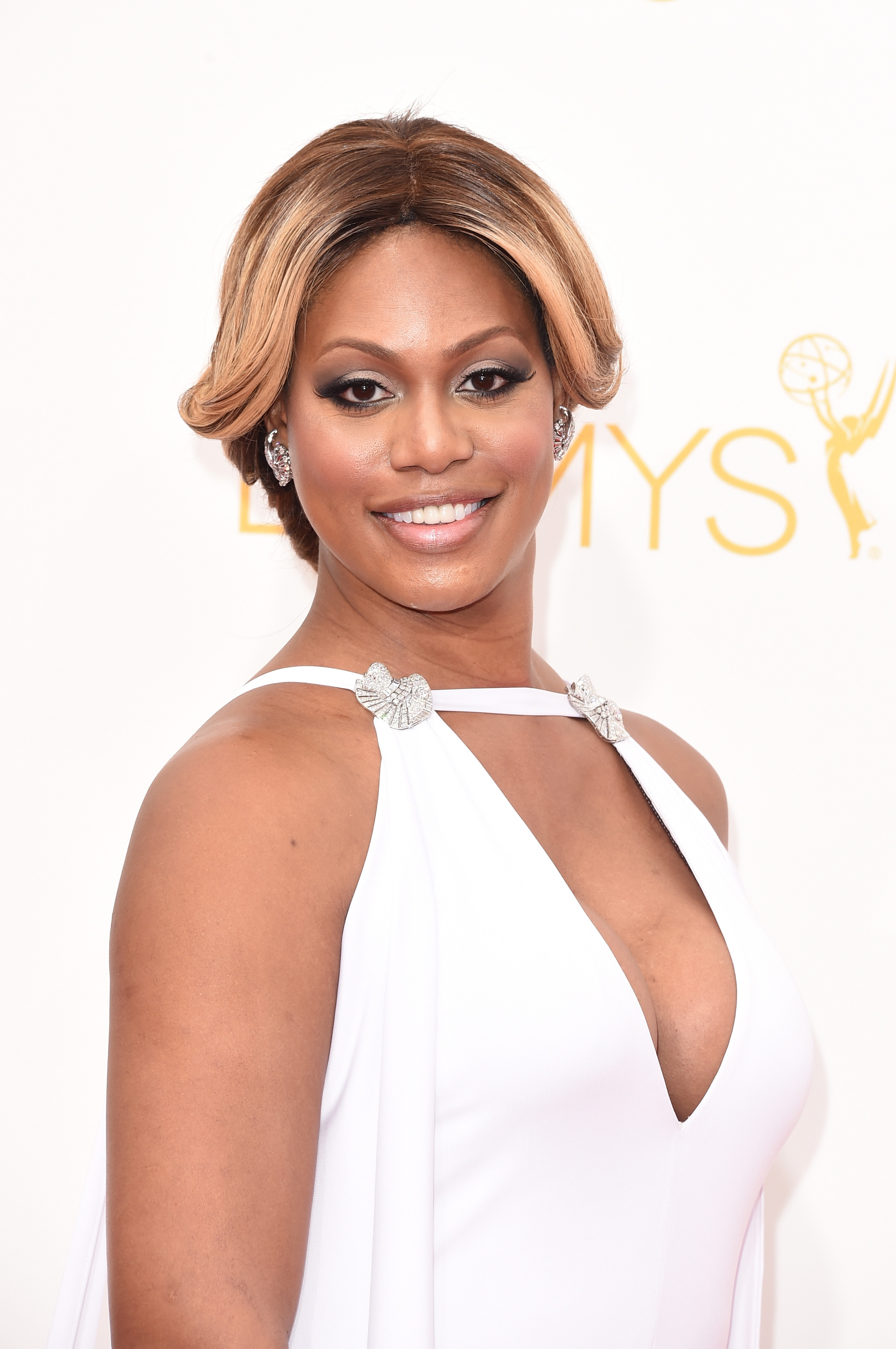 Actress Laverne Cox attends the 66th Annual Primetime Emmy Awards held at Nokia Theatre L.A. Live on Aug. 25, 2014 in Los Angeles.