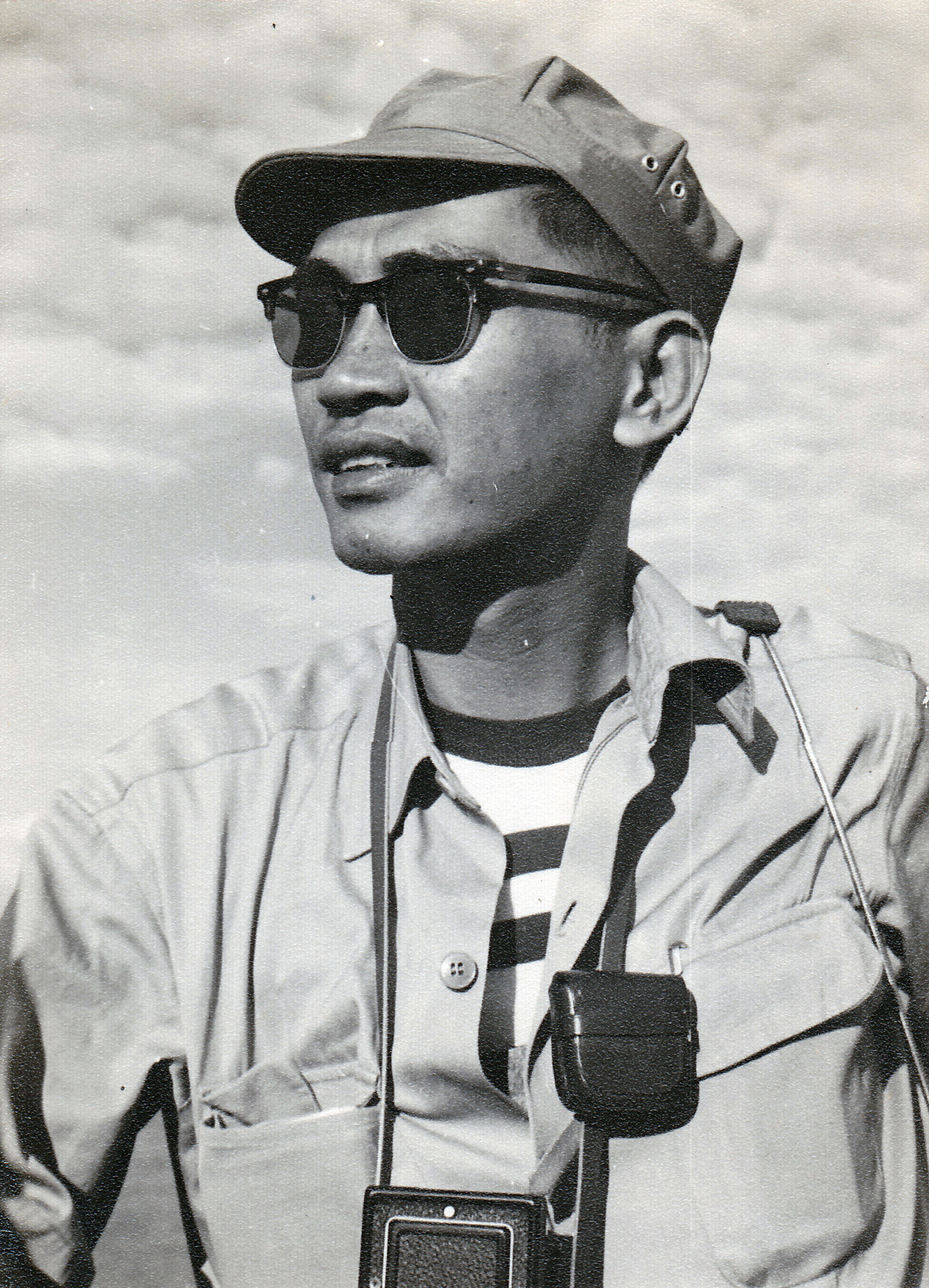Le Minh Thai on a navy ship in South Vietnam in the 1950s.