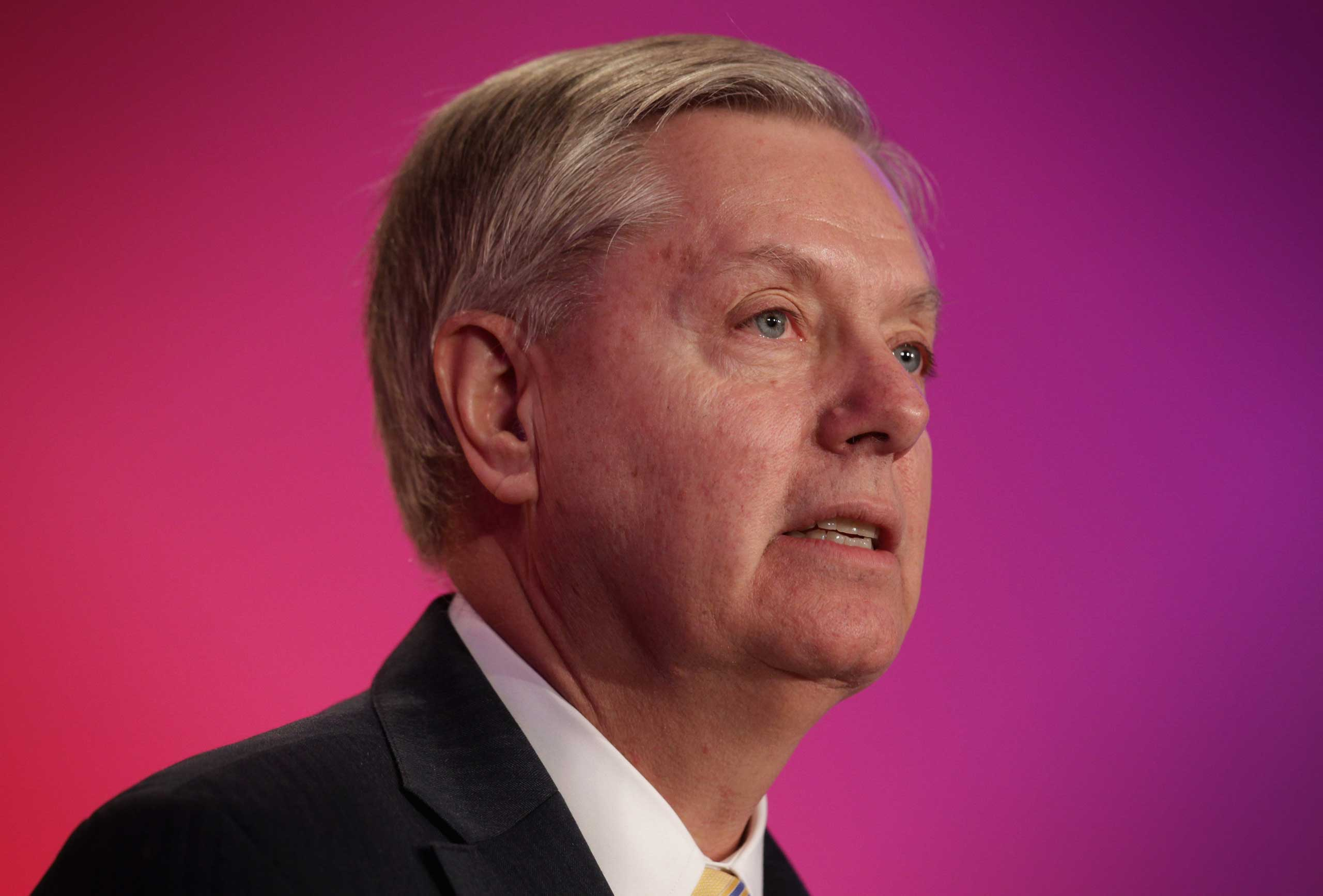 <b>Lindsey Graham</b> Lindsey Graham announced his plans to join the 2016 presidential race.