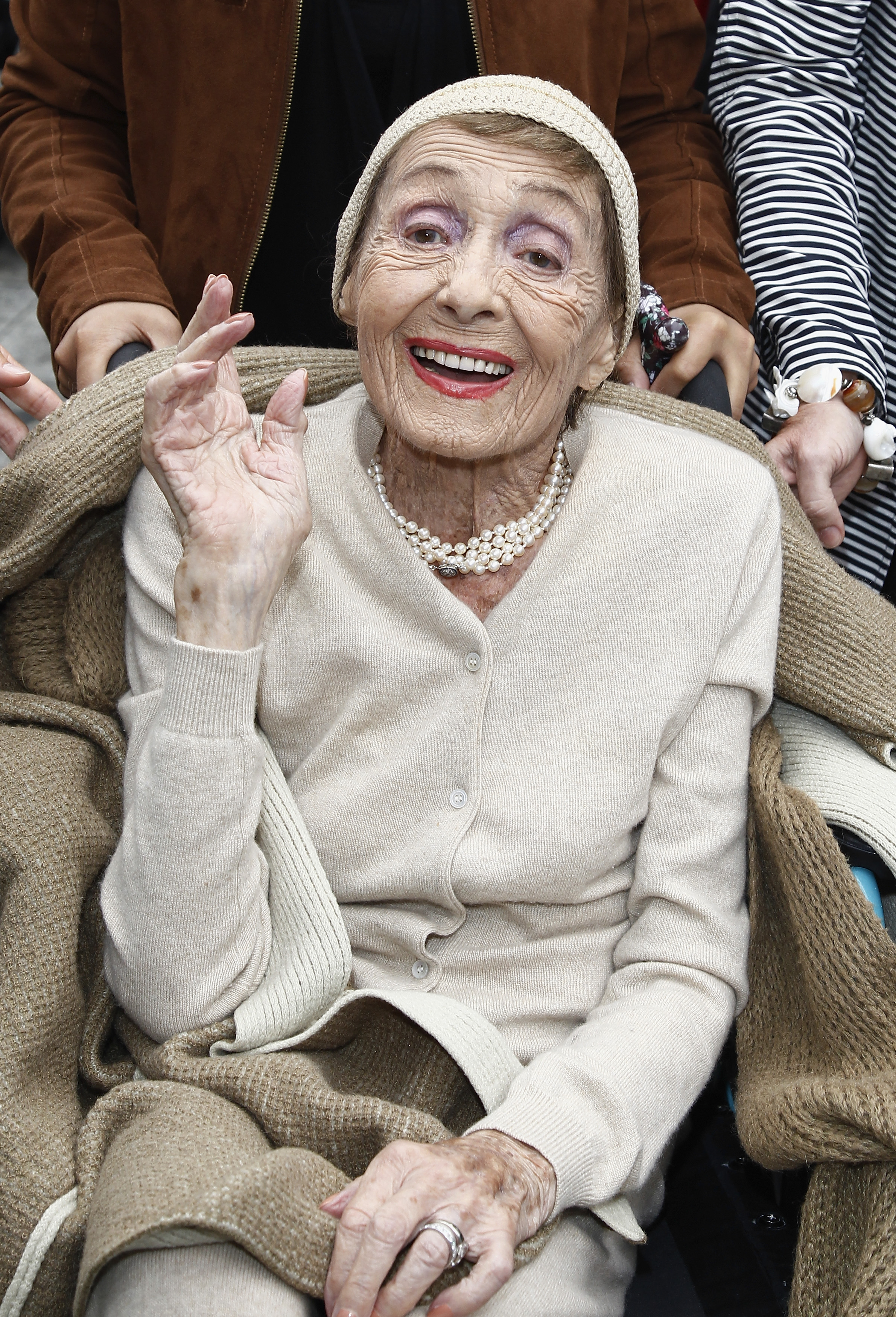 Luise Rainer at a ceremony with a Star on the Berlin Walk of Fame in Berlin, Germany on Sep. 5, 2011.