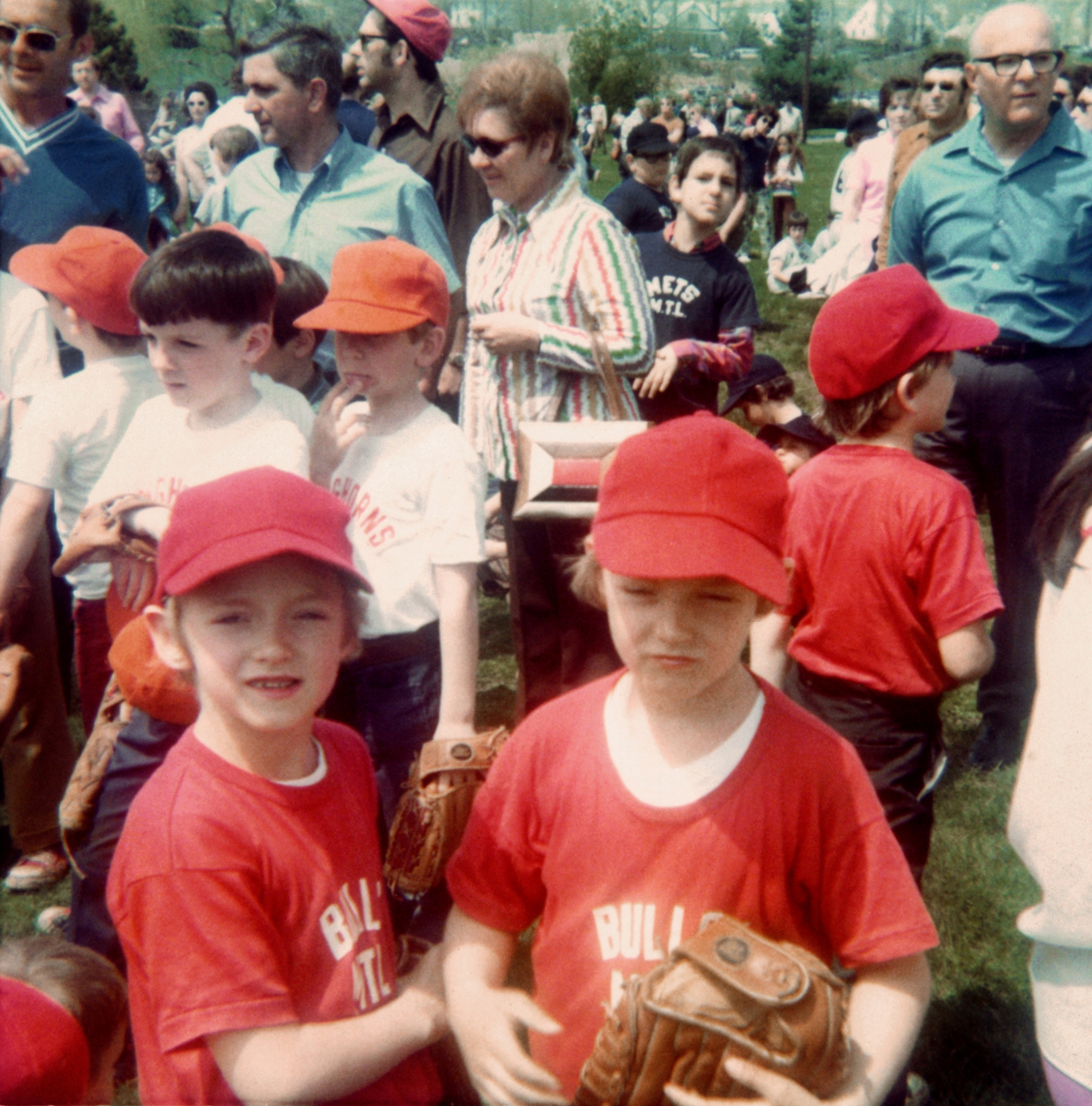 At age 7, Scott, right, was the pitcher and Mark played second base in 1971.