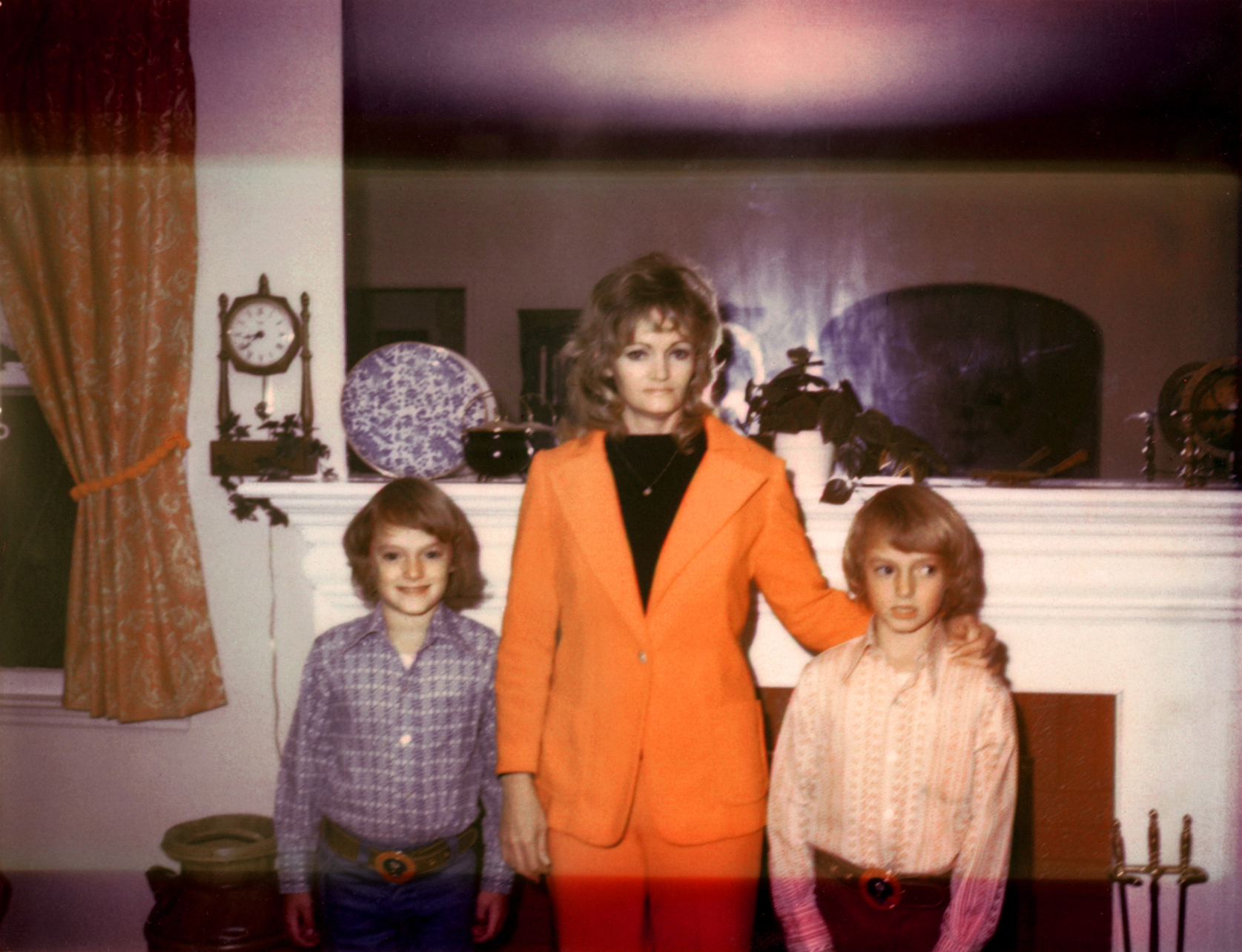 At age 10, Scott, left, and Mark with their mother Patricia Kelly in 1974.