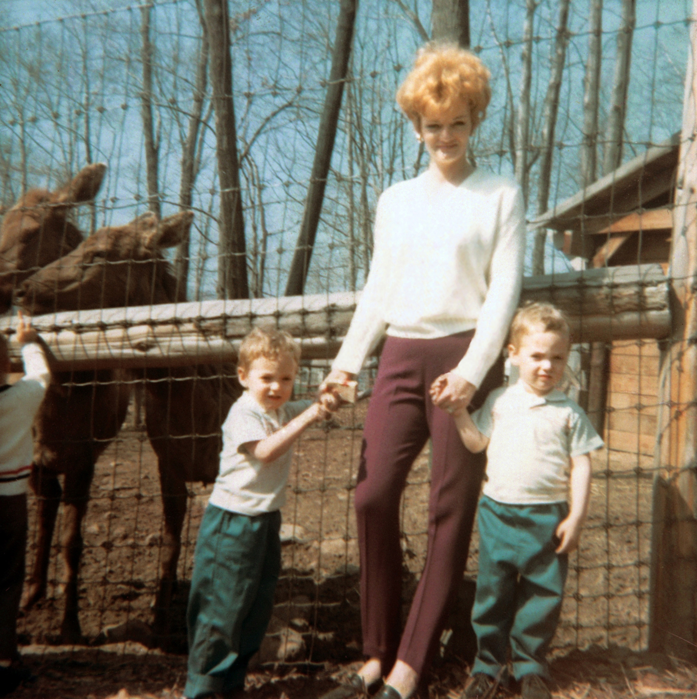 Mark, left and Scott with their mother, Patricia Kelly at the Turtle Back Zoo in West Orange, N.J in  Aug. 1967.