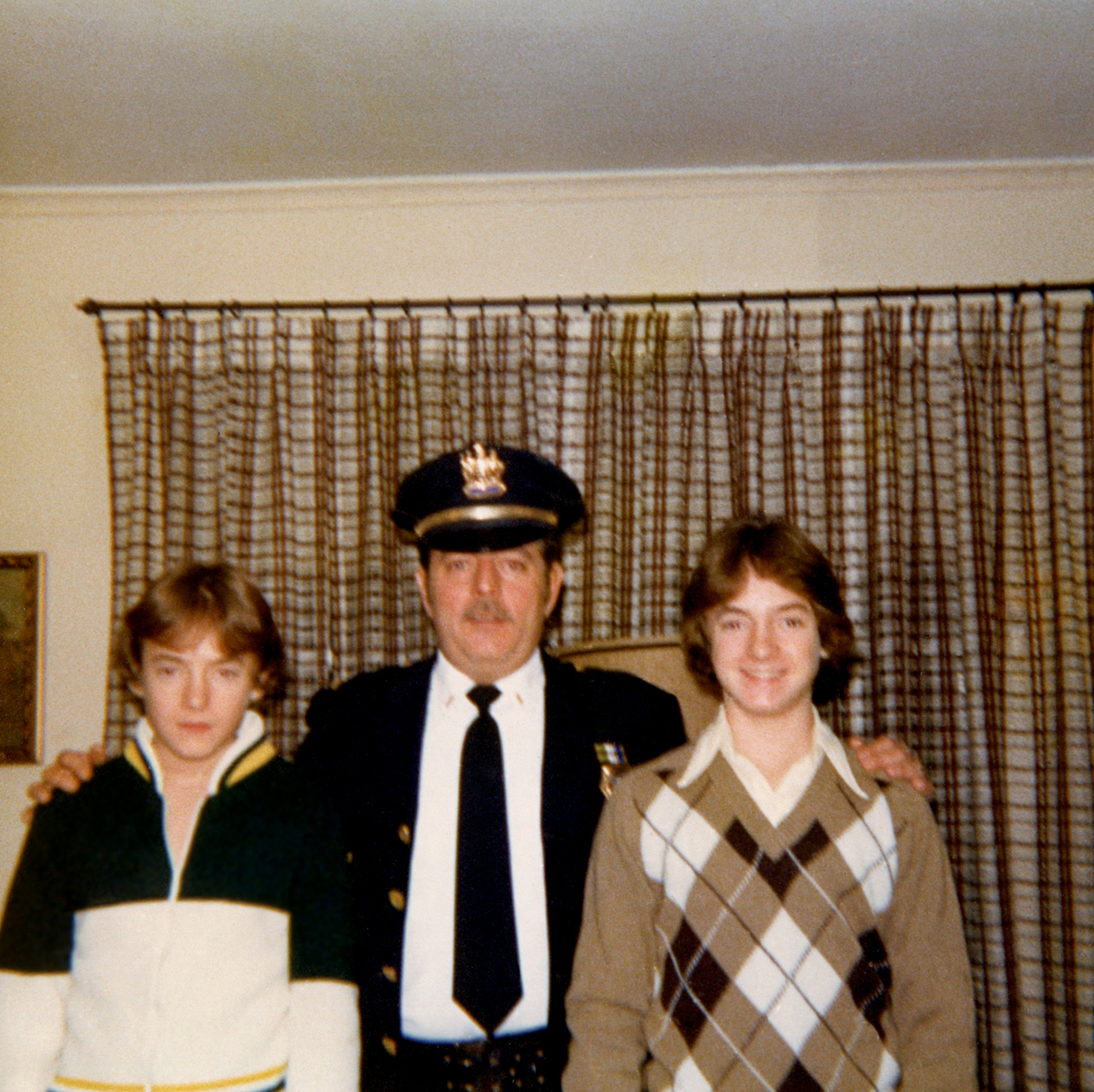 At age 15, Scott, left, and Mark with their father, Richard Kelly in 1979. Richard retired as a Captain from the West Orange, N.J., Police Department.