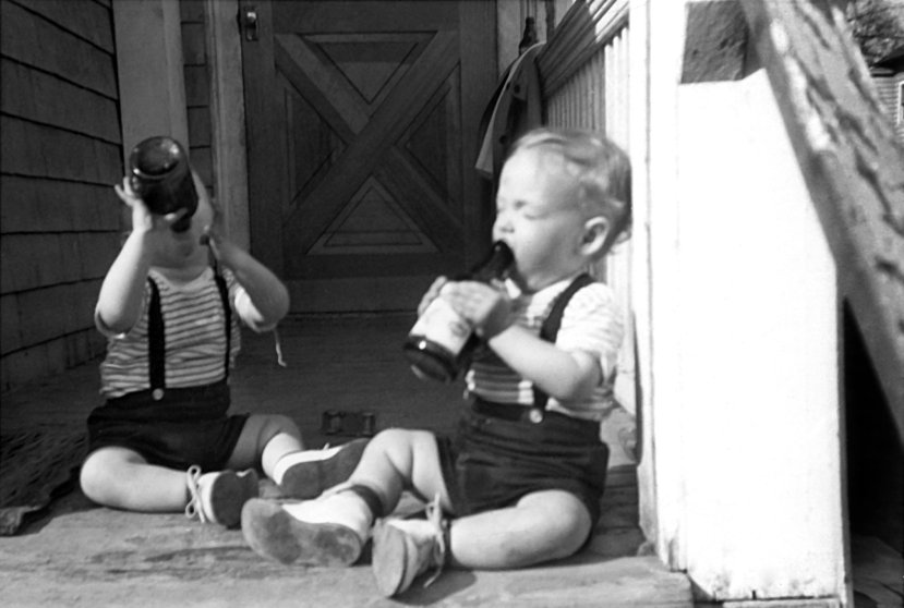 Scott and Mark on the porch in 1965