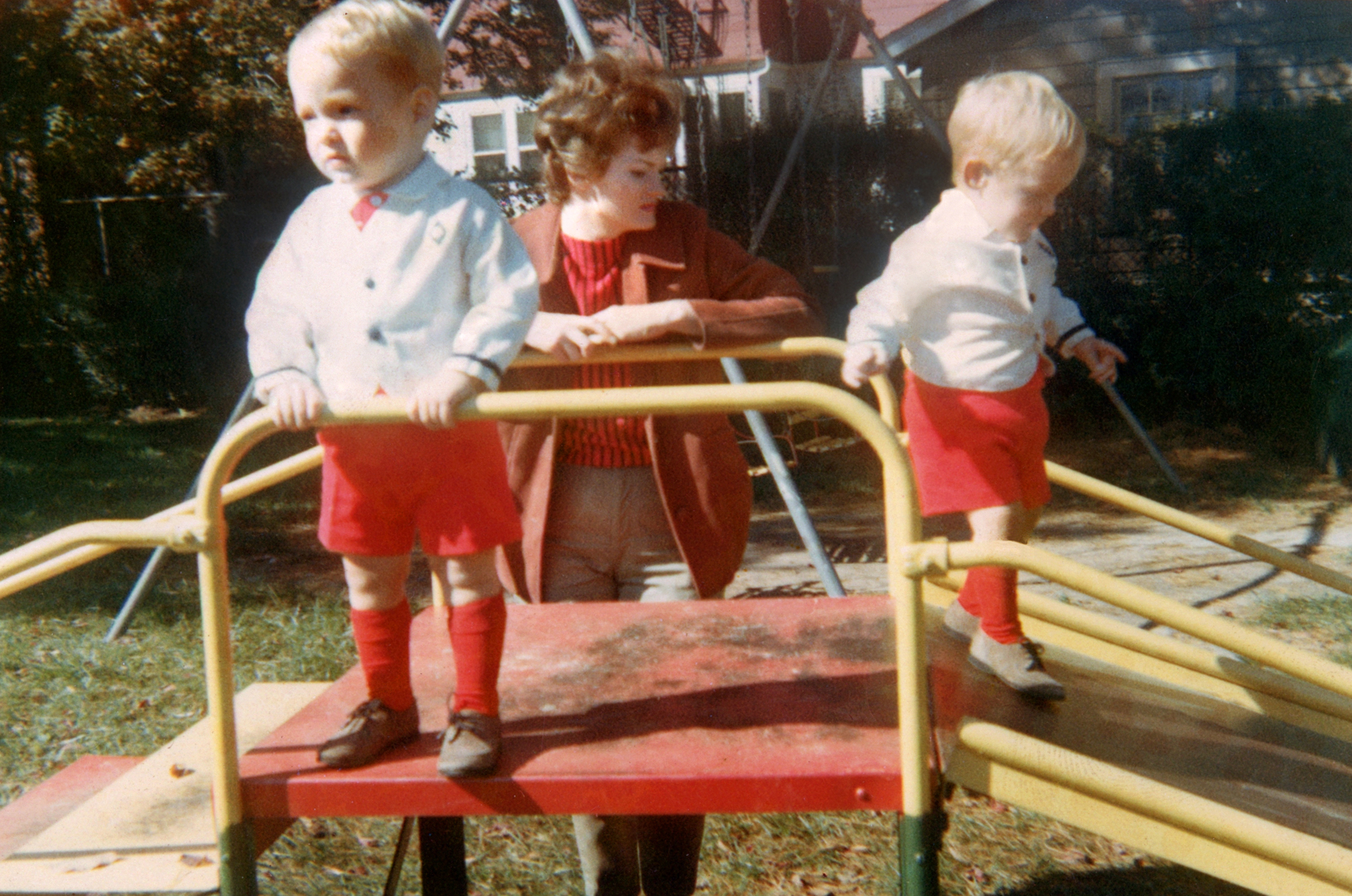 At age 1, Scott, left, and Mark with their mother, Patricia Kelly in Oct. 1965.