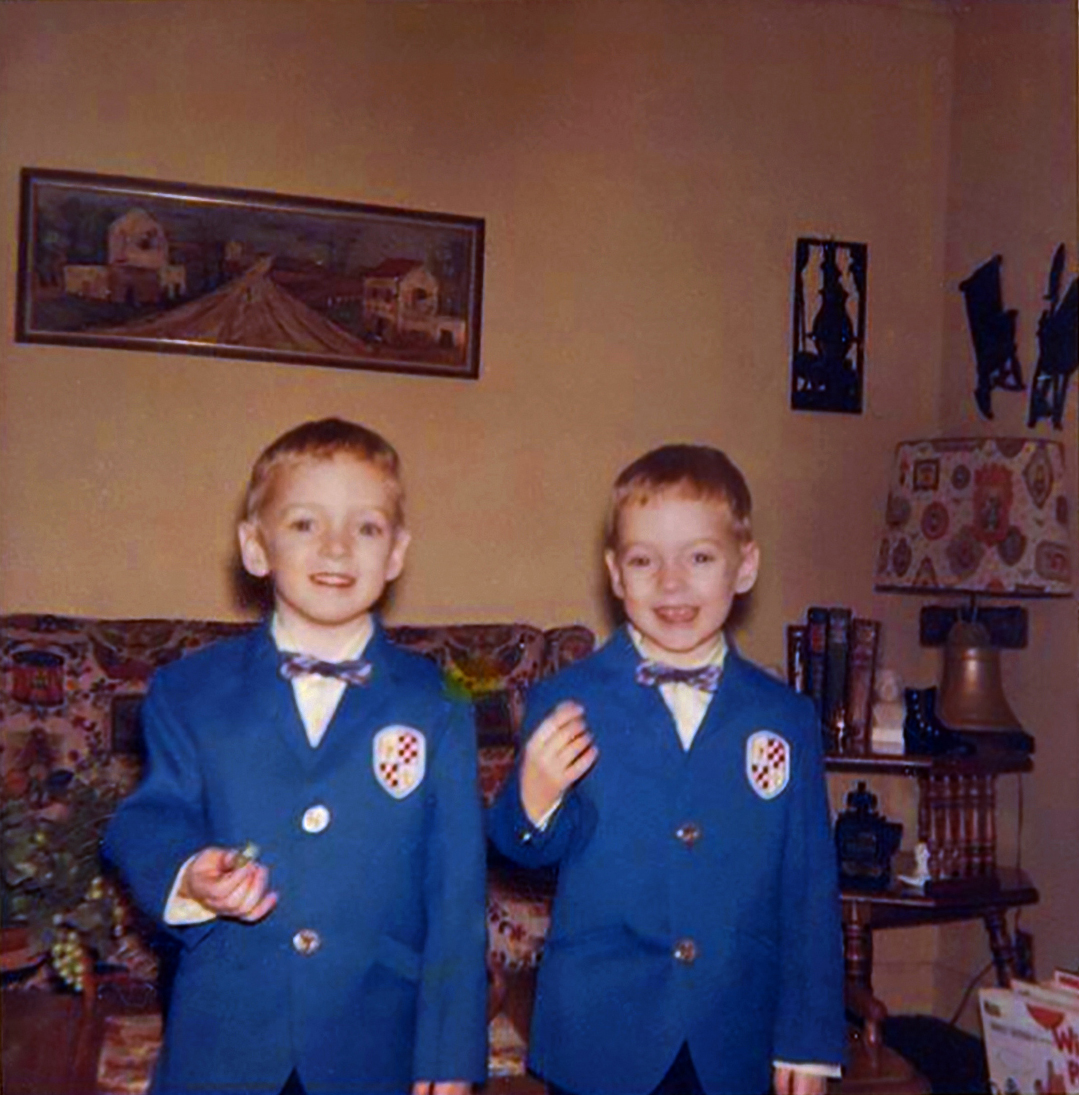 At age 4, Mark, left, and Scott in April 1968.
