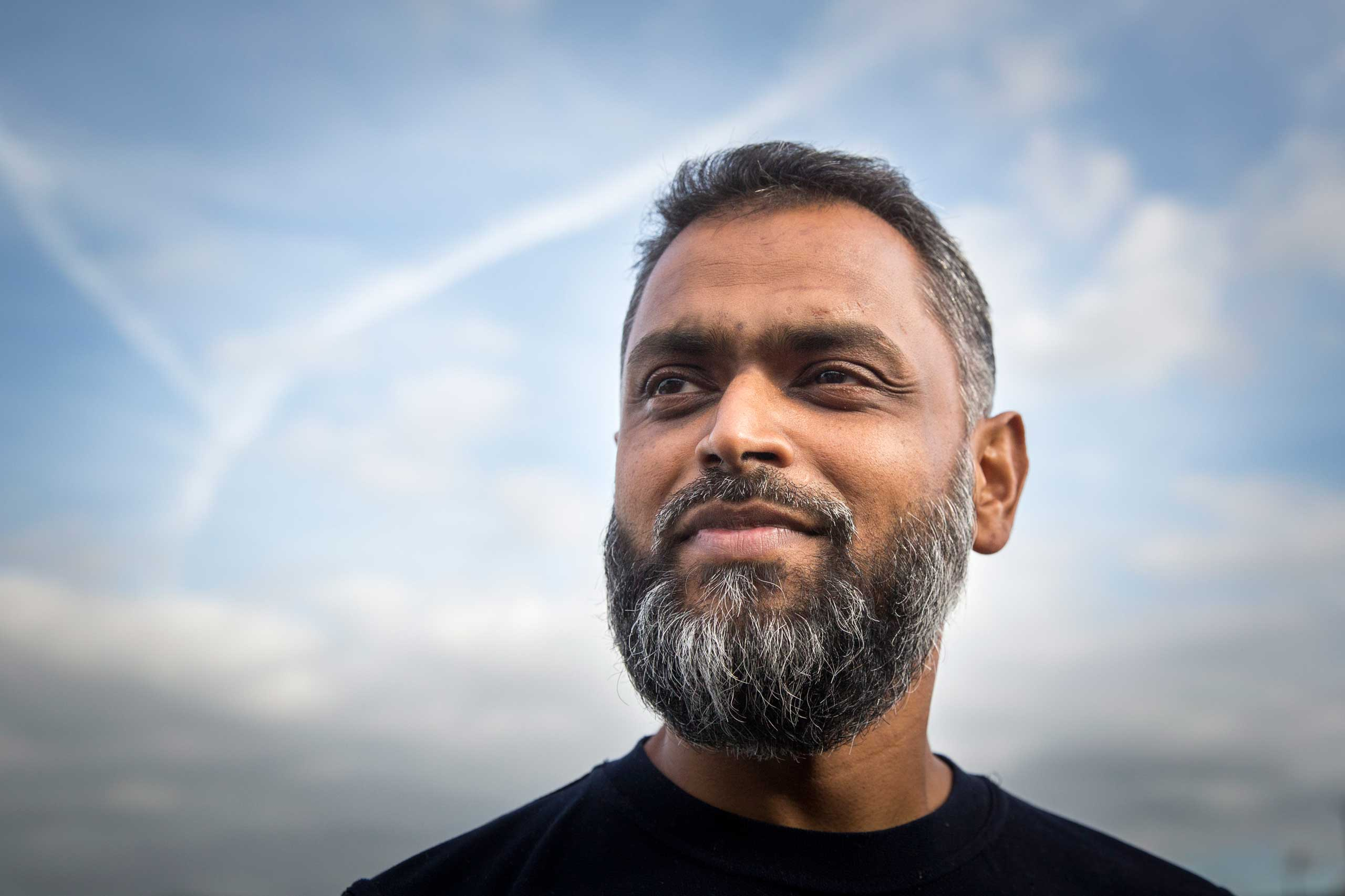 Moazzam Begg, a Pakistani-British man who spent three years in Guantanamo between 2002 and 2005, pictured in London, Oct. 1, 2014.
