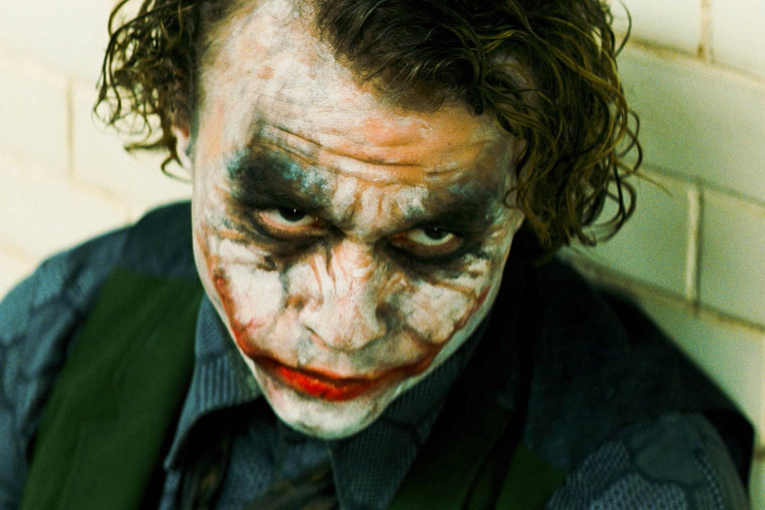 The Dark Knight In Christopher Nolan's 2008 sequel to Batman Begins, Christian Bale returns as Batman, this time joined by Heath Ledger as the ultra-creepy villain known as The Joker.