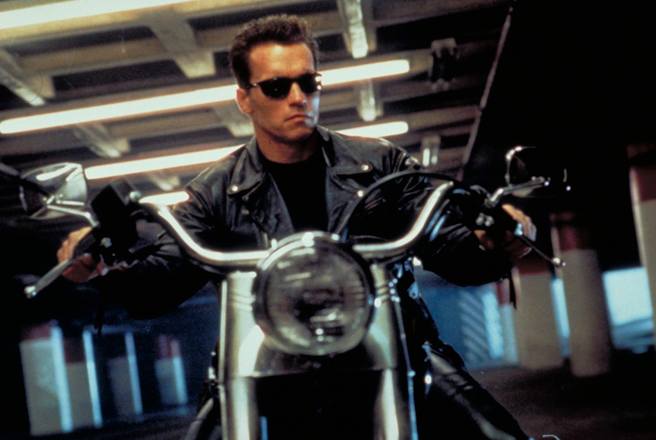 <strong><i>Terminator 2: Judgment Day</i></strong> In the second, more elaborate installment of the <i>Terminator</i> action movie franchise, Arnold Schwarzenegger is back as the Terminator, who must take on a newer, more advanced cyborg.