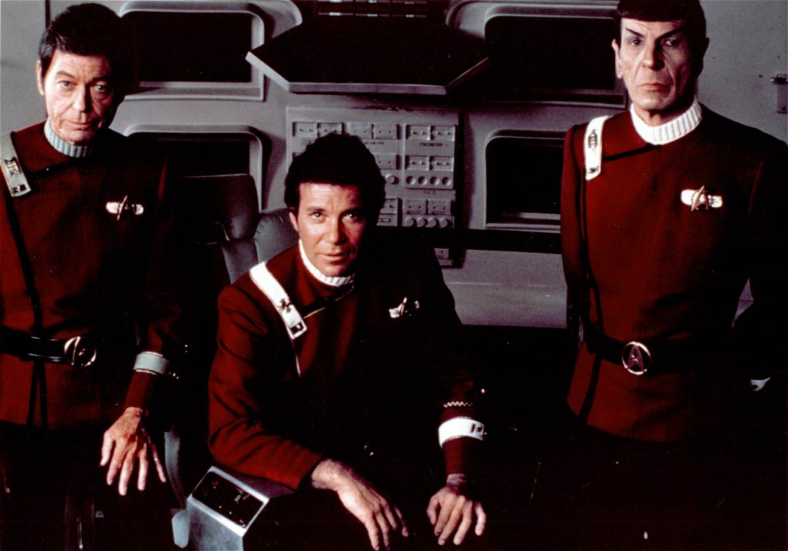 <strong><i>Star Trek II: The Wrath of Khan</i></strong> In the second <i>Star Trek</i> film, released in 1982, Admiral James T. Kirk (William Shatner) returns to take on his old nemesis Khan Noonien Singh.