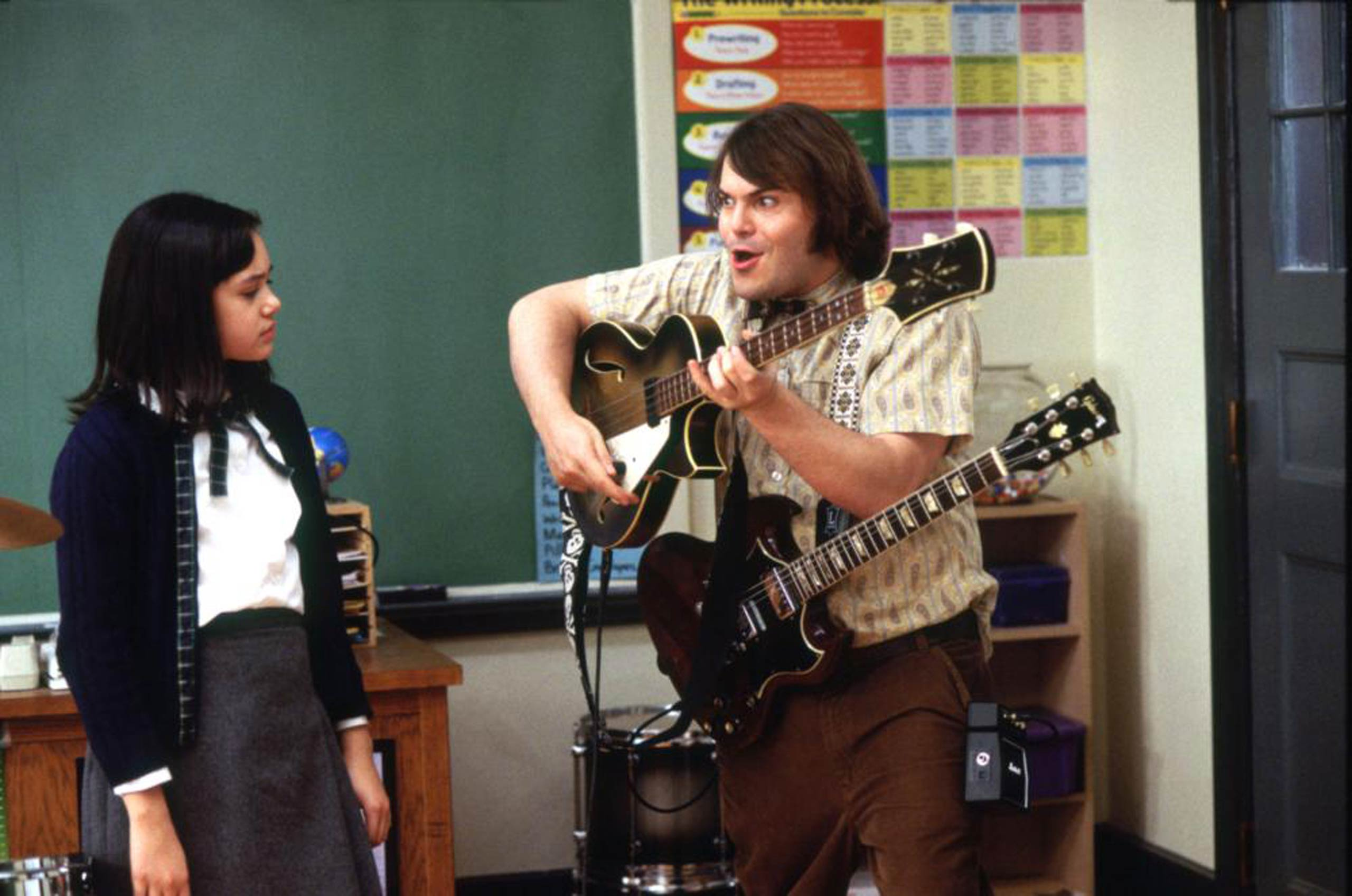 School of Rock (Nickelodeon)                                                              Set to air on Nickelodeon, School of Rock will follow a down-on-his-luck musician who pretends to be a substitute teacher at a prep school.