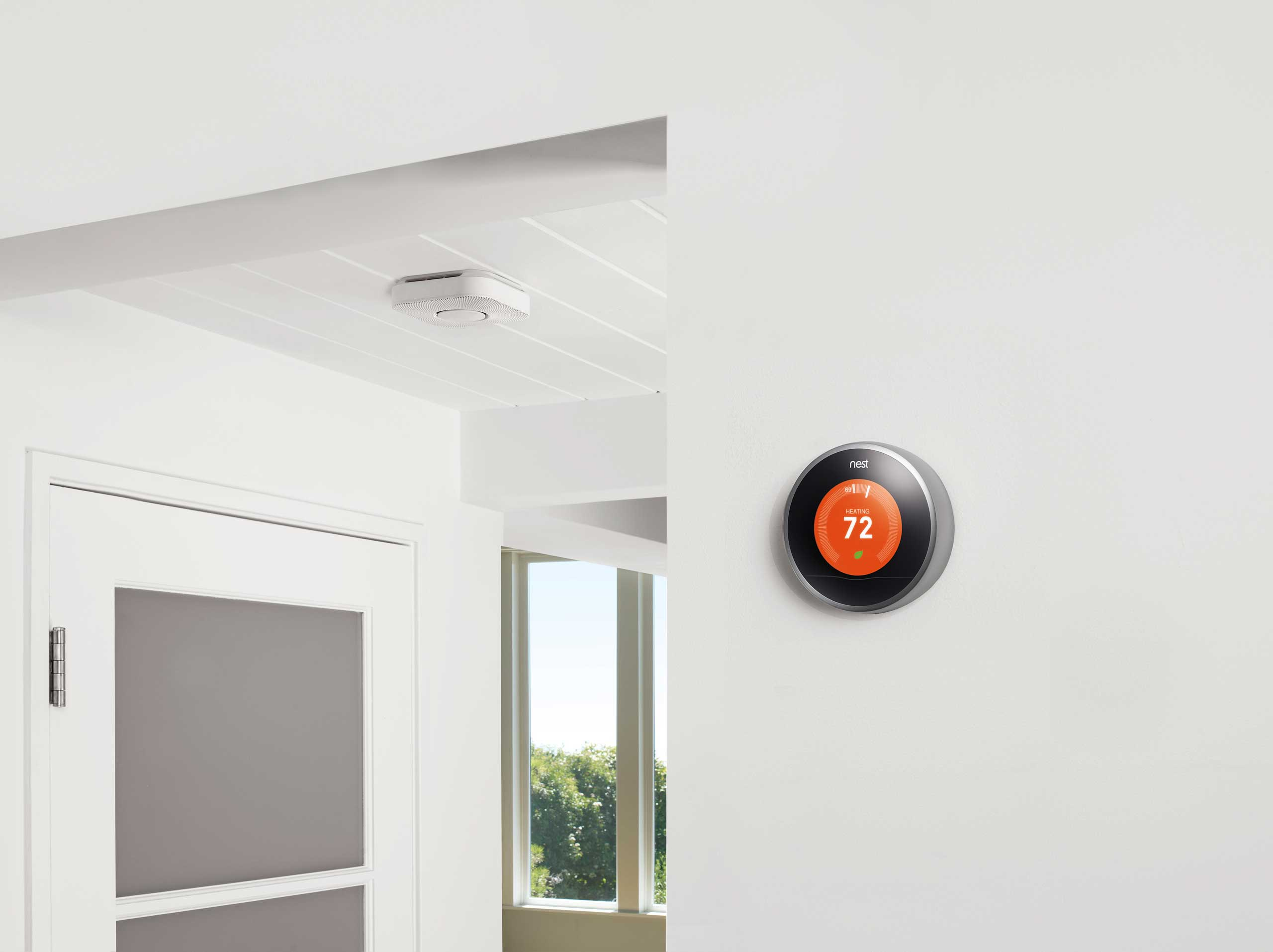 <strong>Nest</strong>                                                                      Acquired by Google in Jan. 2014, Nest Labs wants to turn your home into a smart device. The home automation system includes Internet-connected smoke detectors and thermostats, which have screens and chic, round designs — a huge design boost for devices that haven't really changed in recent decades.