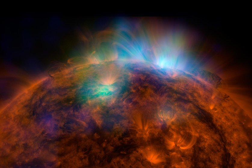 NASA's Nuclear Spectroscopic Telescope Array's first picture of the sun taken in high-energy X-rays released on Dec. 22, 2014.