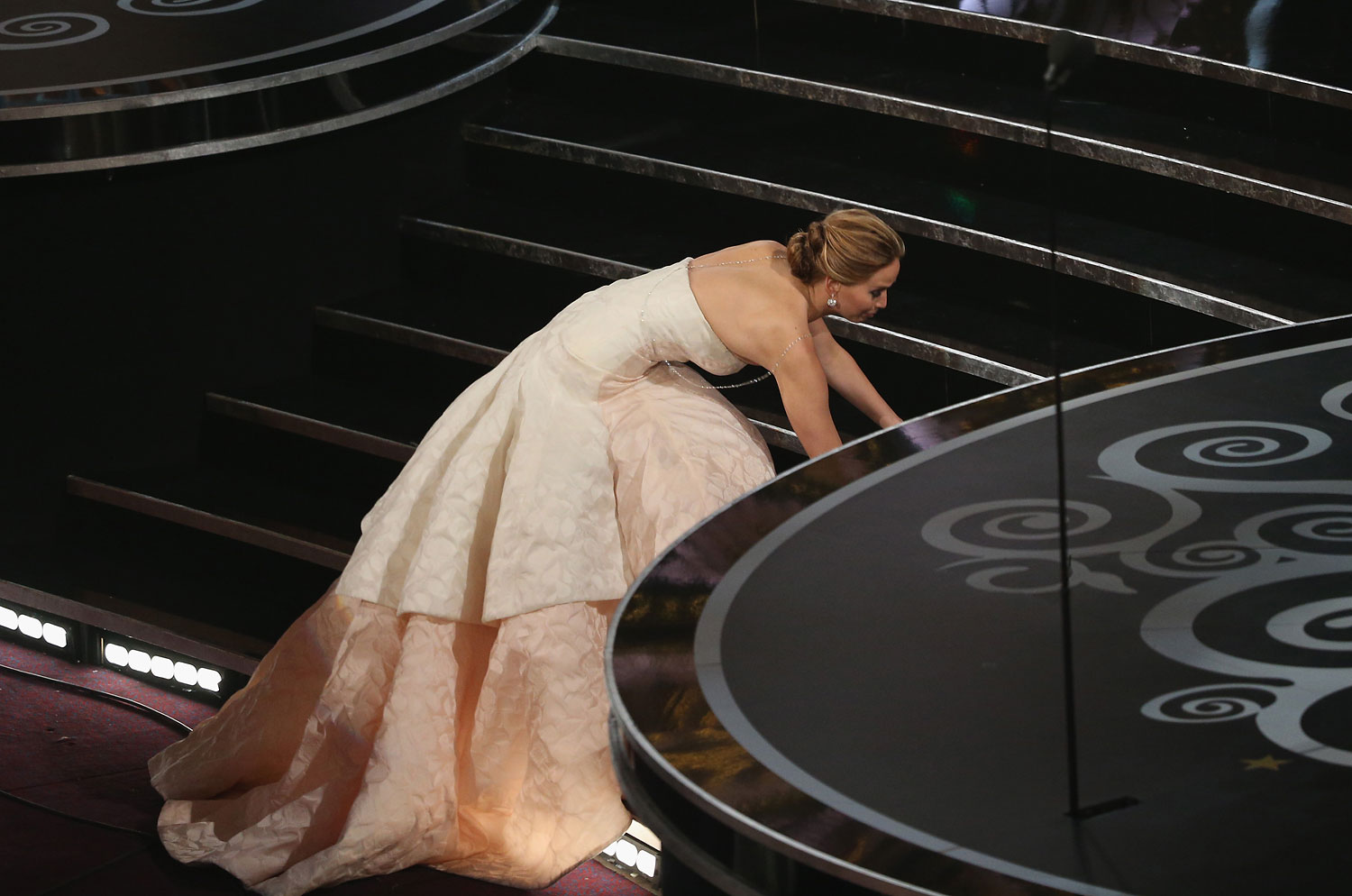 Of course, in true Jennifer Lawrence fashion, her greatest achievement was not without a hiccup as she tripped on her way to accept her Oscar.