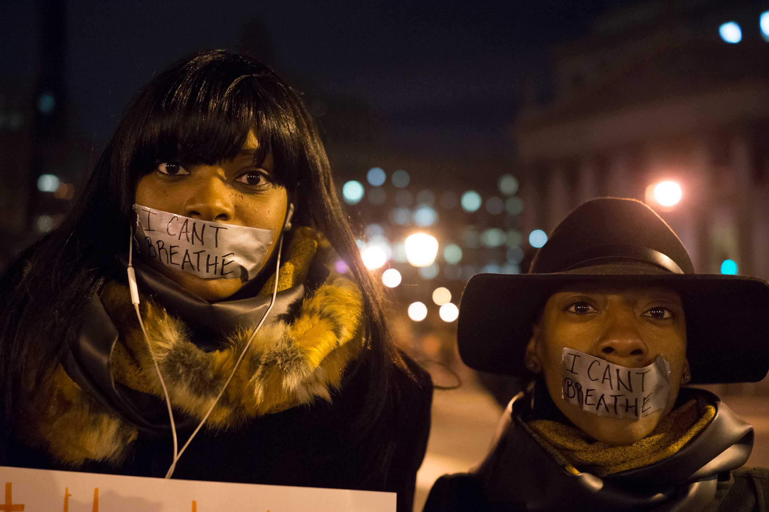 Thousands of protestors demonstrate against police brutality in New York City as part of the Millions March on Dec. 13, 2014.