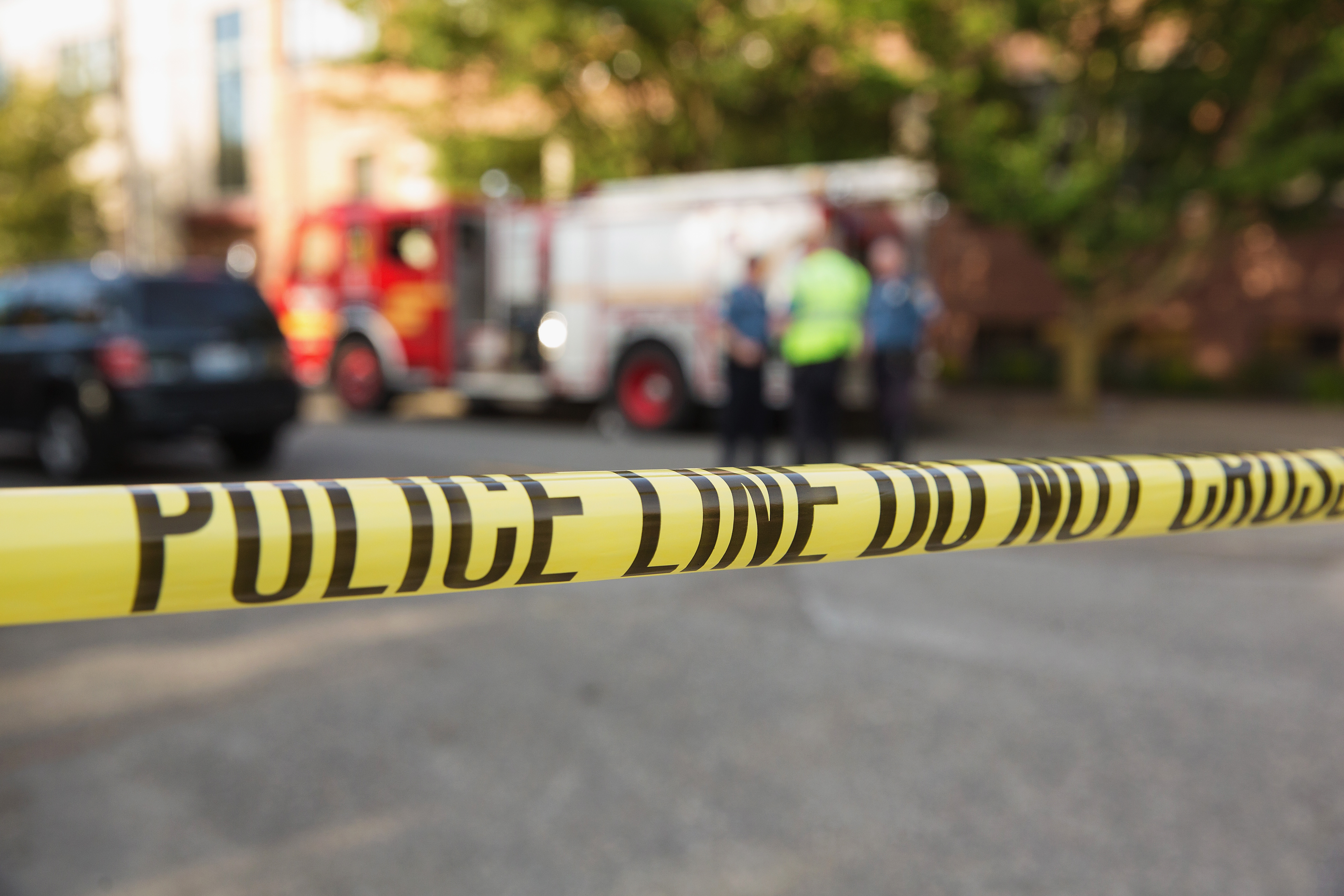 Police tape marks a crime scene on June 5, 2014 in Seattle, Washington.