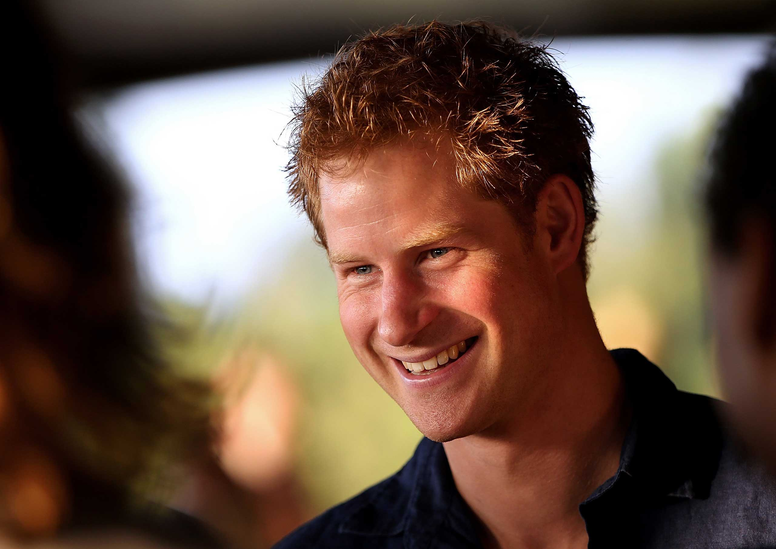 Prince Harry attends the Sentebale Polo Cup presented by Royal Salute World Polo at Ghantoot Polo Club in Abu Dhabi on Nov. 20, 2014.