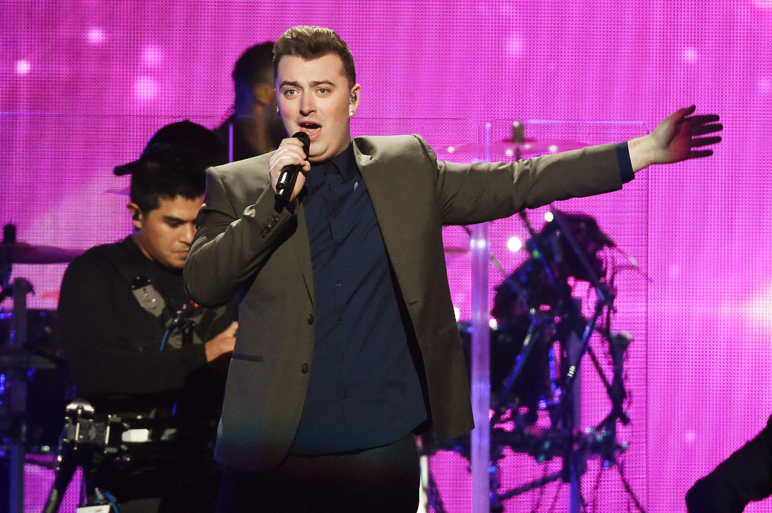 Sam Smith performs onstage during iHeartRadio Jingle Ball 2014 at Madison Square Garden on Dec. 12, 2014 in New York City.