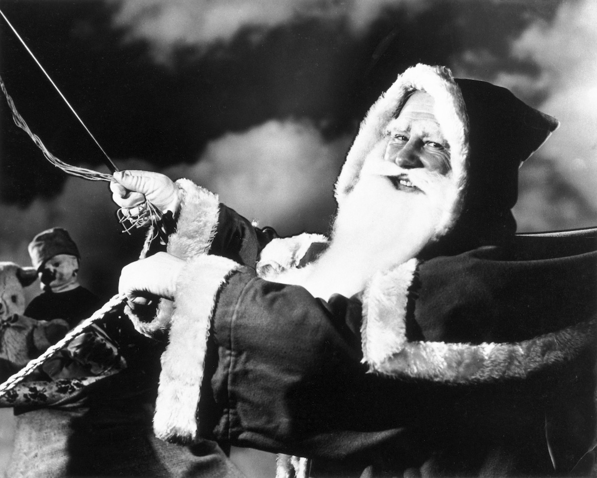 An image of Santa Claus from the 1940s