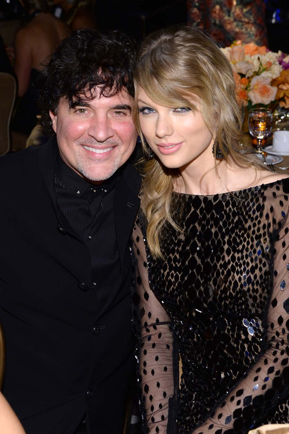 Scott Borchetta and Taylor Swift attend the 56th annual Grammy Awards Pre-Grammy Gala at The Beverly Hilton on January 25, 2014 in Beverly Hills, California.
