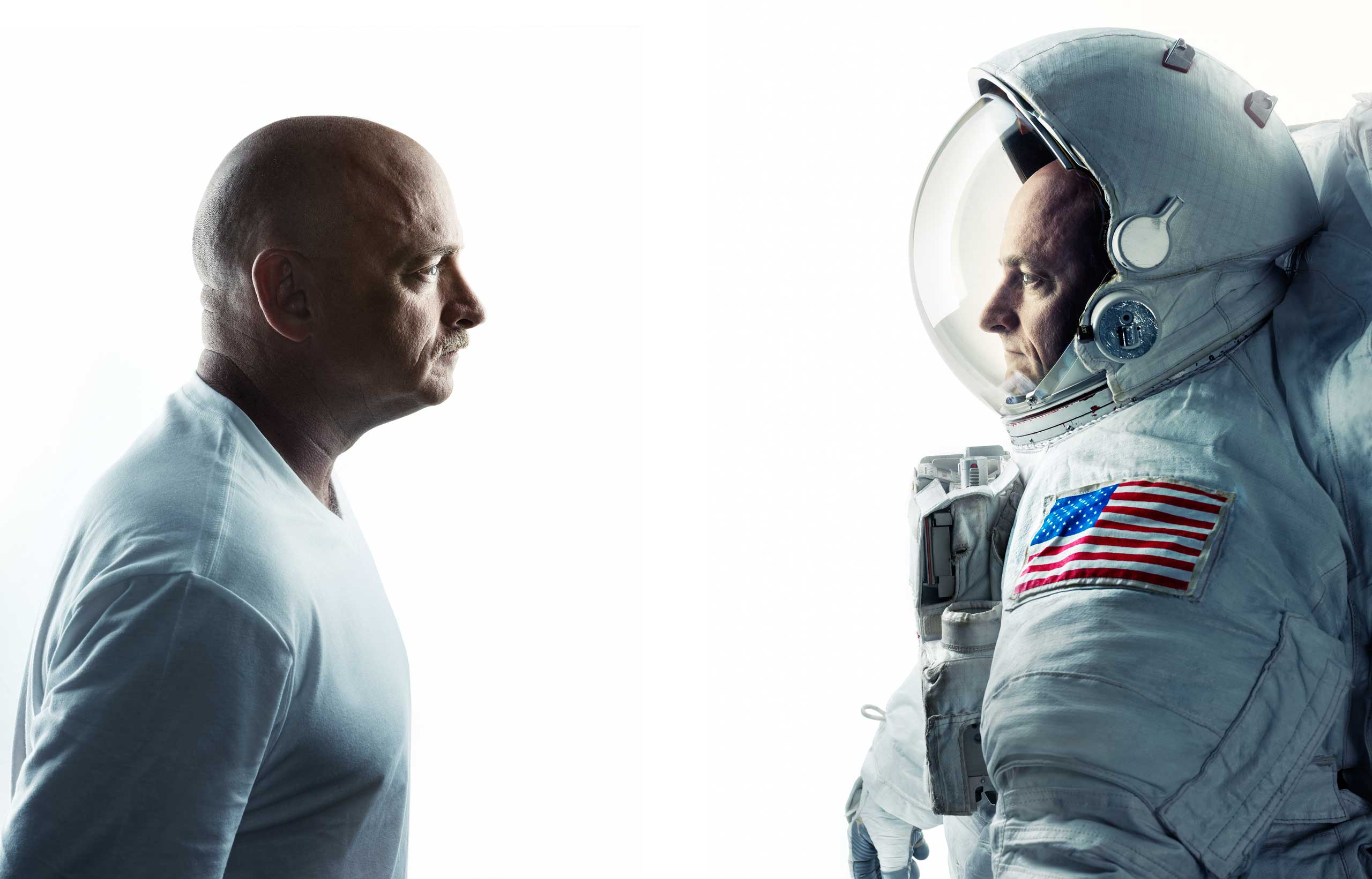 Astronaut twins Mark and Scott Kelly