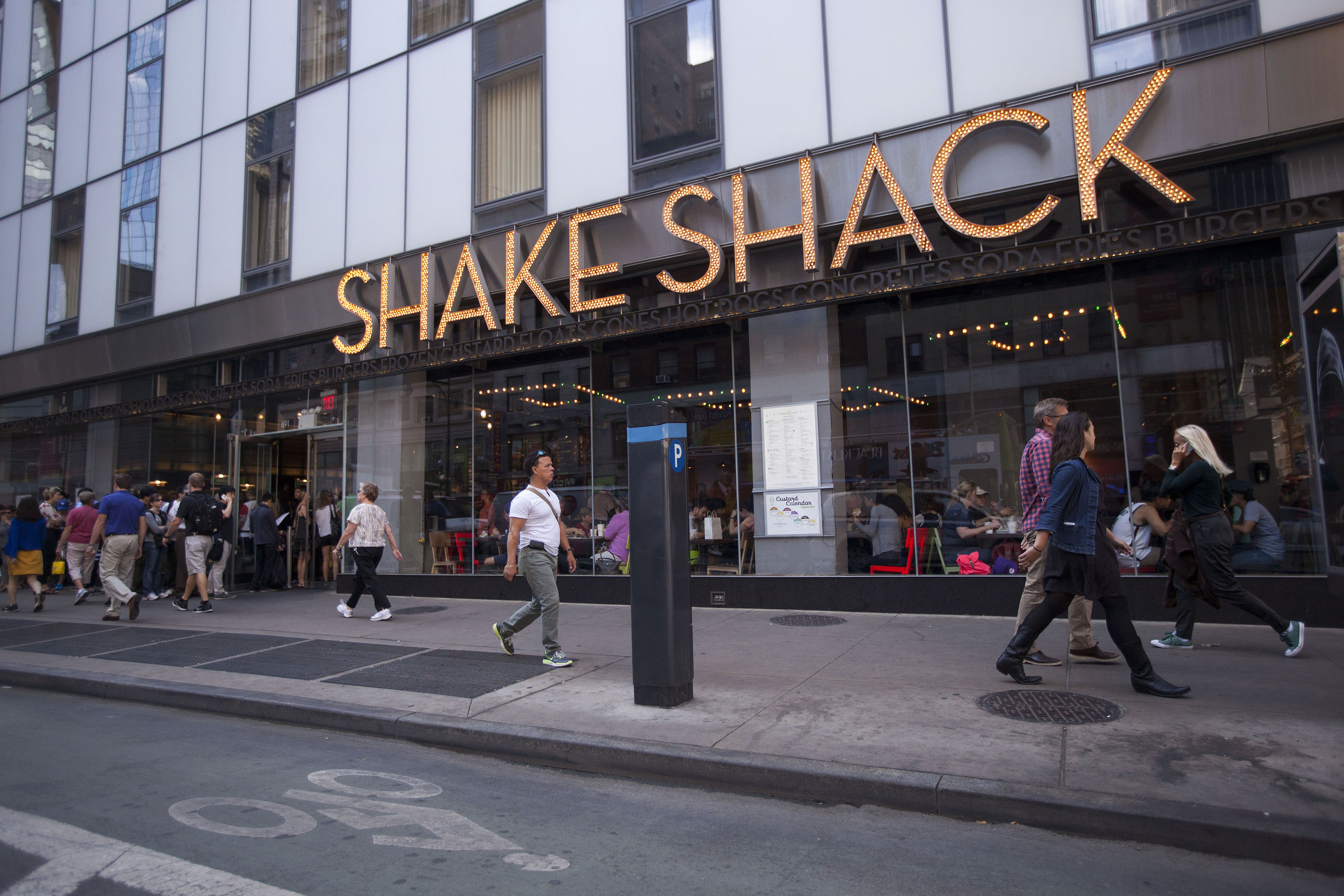 A Shake Shack restaurant in New York City.
