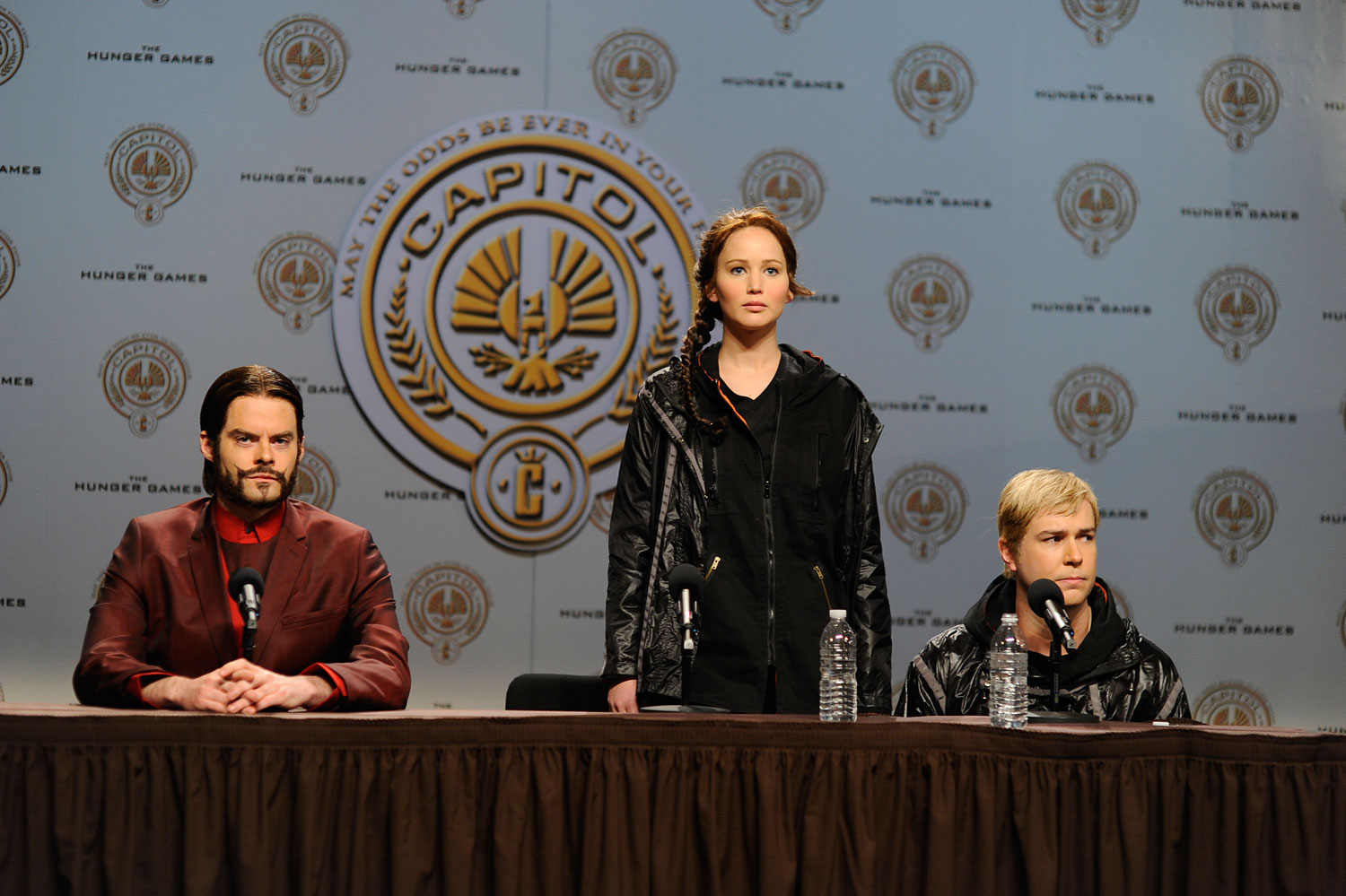 Lawrence had the honor of hosting Saturday Night Live, where she lampooned her role as Katniss Everdeen in The Hunger Games.