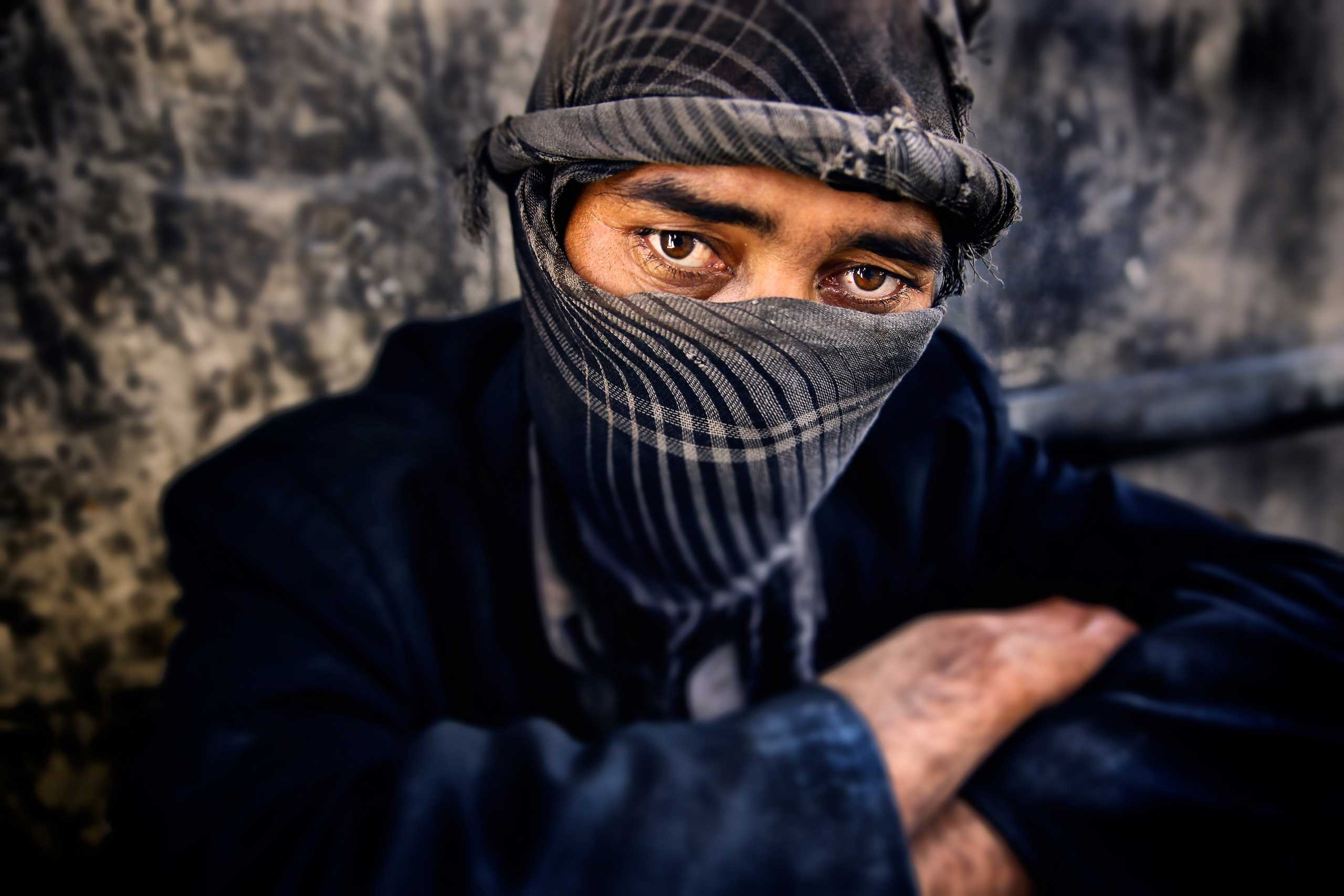 Abdullah, 36, has been a heroin and opium addict for 19 years. Though he has a wife and five children in Jalalabad he has failed to maintain his recovery after five attempts at rehabilitation seen on July, 24, 2014.