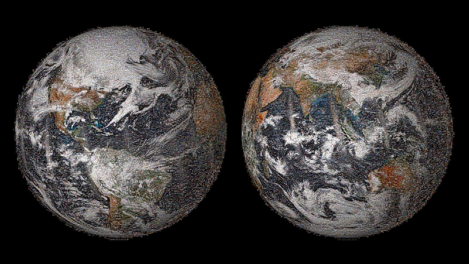 The 3.2 gigapixel Global Selfie mosaic was made with 36,422 individual selfies that were posted to social media sites on or around Earth Day, April 22, 2014.
