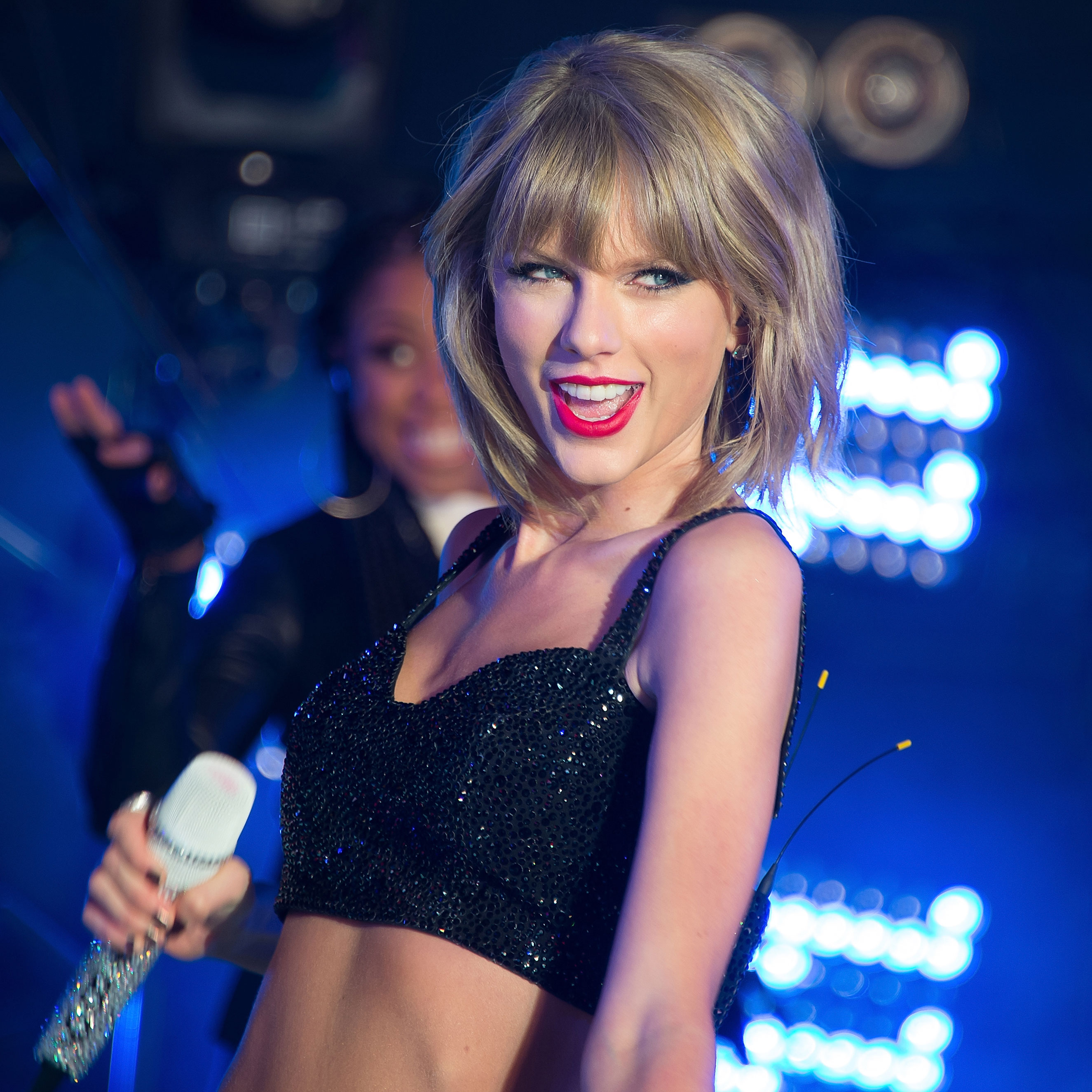 Taylor Swift performs during New Year's Eve 2015 in Times Square at Times Square on Dec. 31, 2014 in New York City.