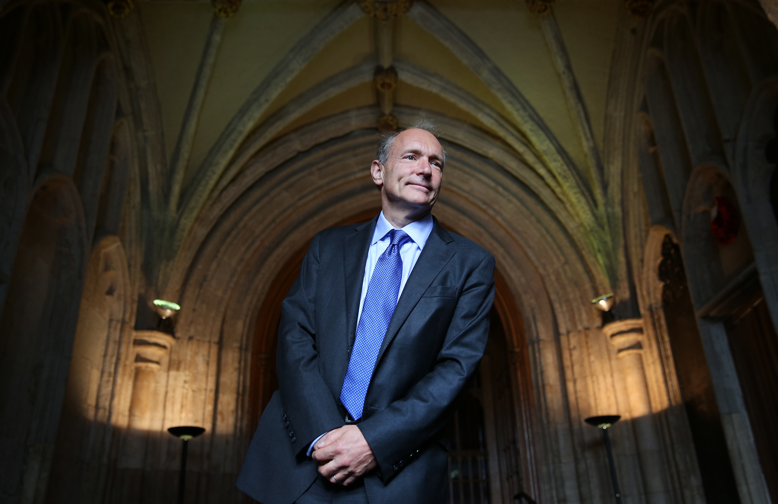 Sir Tim Berners-Lee  inventor of the World Wide Web arrives at Guildhall to receive an Honorary Freedom of the City of London award on September 24, 2014 in London, England.