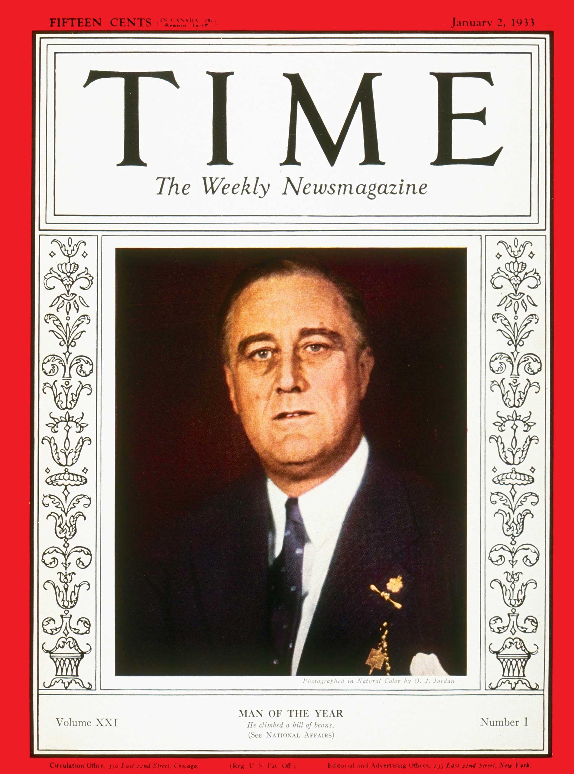 1932: Franklin D. Roosevelt