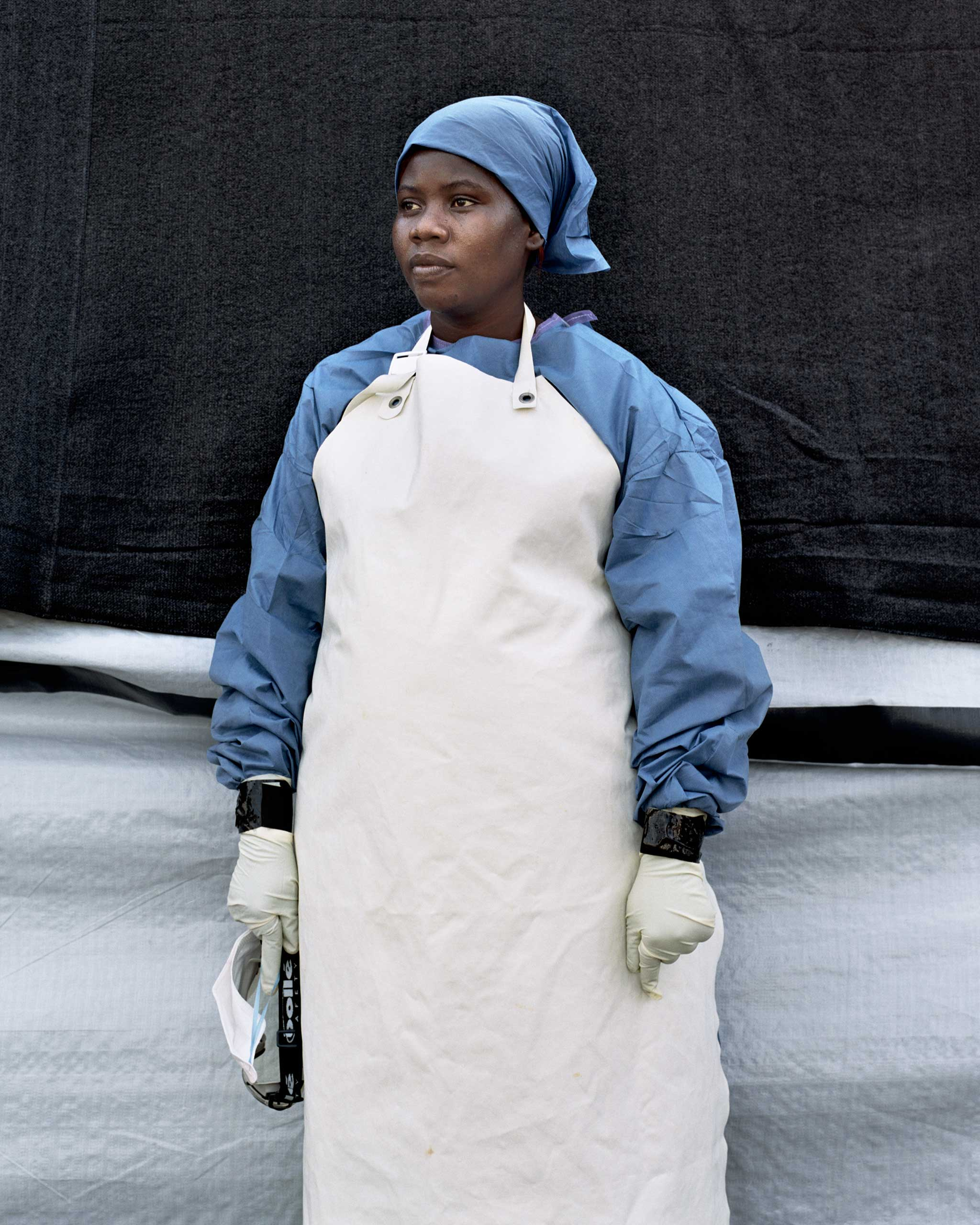 Salome Karwah, 26, a nurse currently working at Doctors Without Borders / Medecins Sans Frontieres' Ebola Treatment Unit in Monrovia, Liberia. Nov. 26, 2014