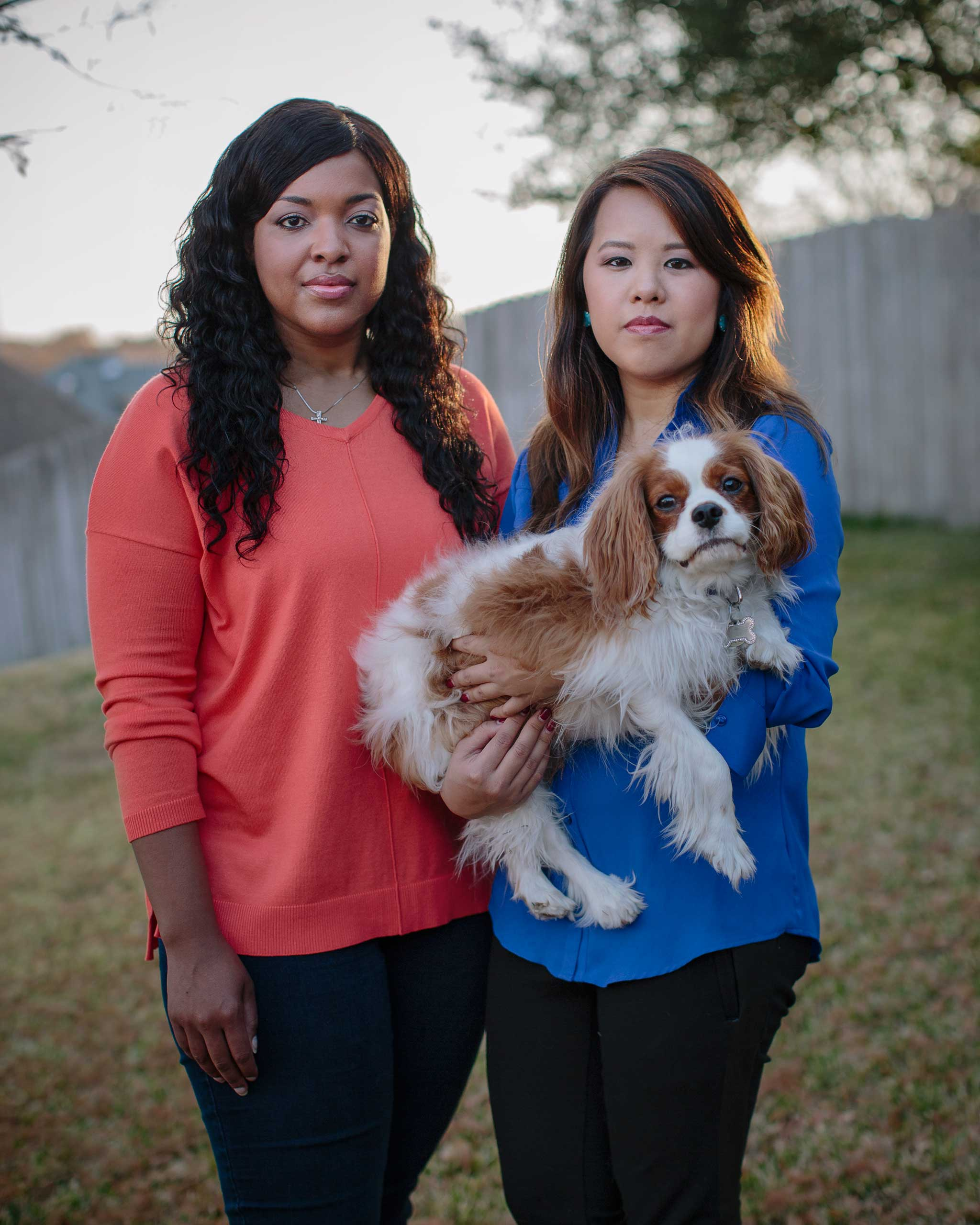 Amber Vinson and Nina Pham, nurses at Texas Health Presbyterian Hospital in Dallas. They contracted Ebola while treating patient Thomas Eric Duncan. Dec. 5, 2014