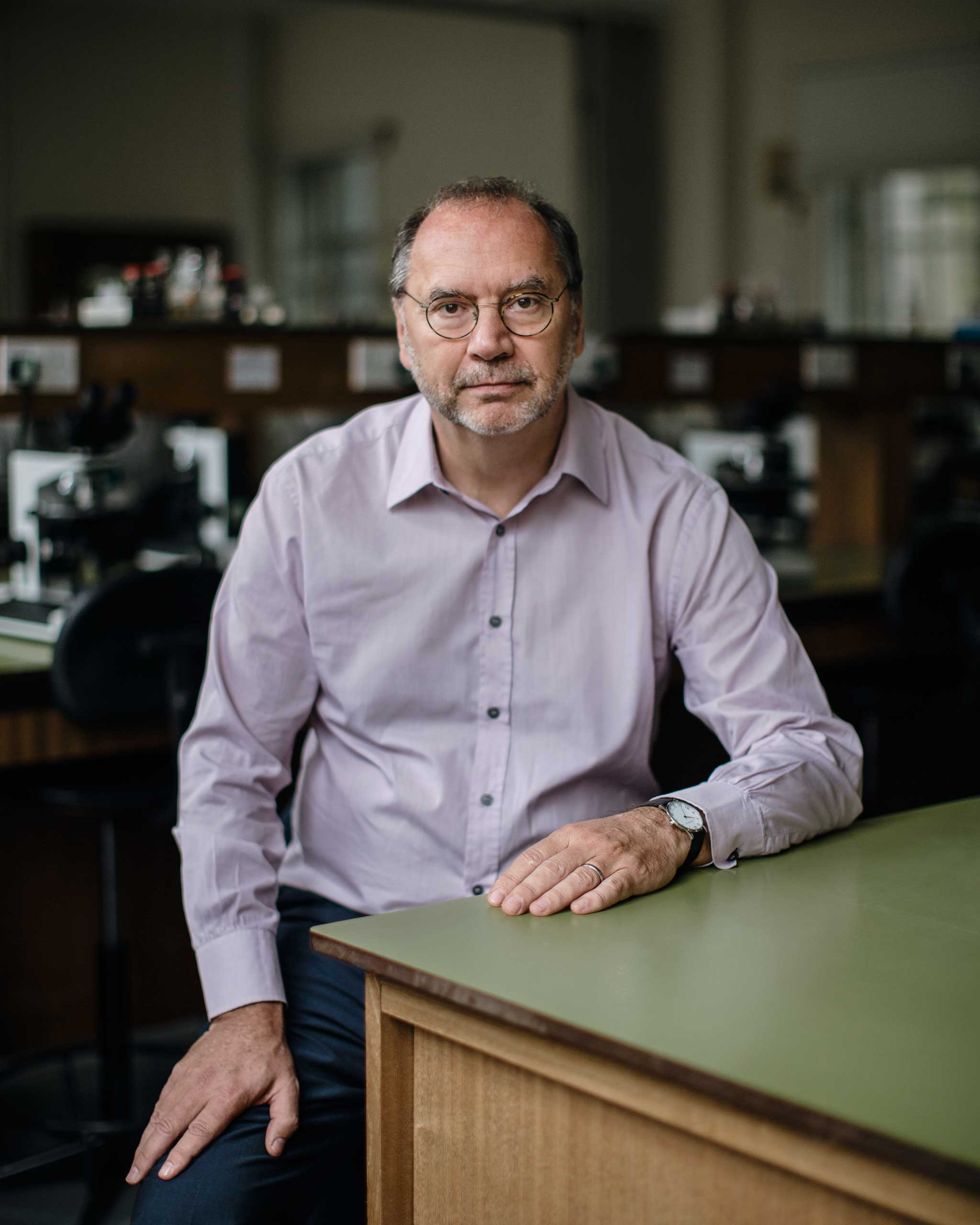 Prof. Peter Piot photographed in a lab at the London School of Hygiene and Tropical Medicine. Nov. 12, 2014. He discovered the Ebola virus in 1976.