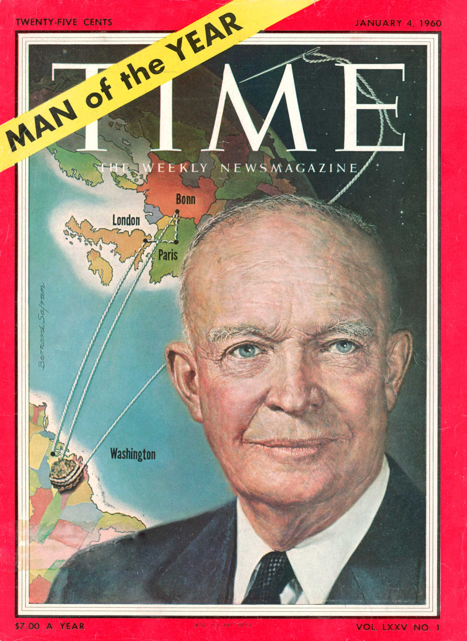 1959: President Dwight D. Eisenhower