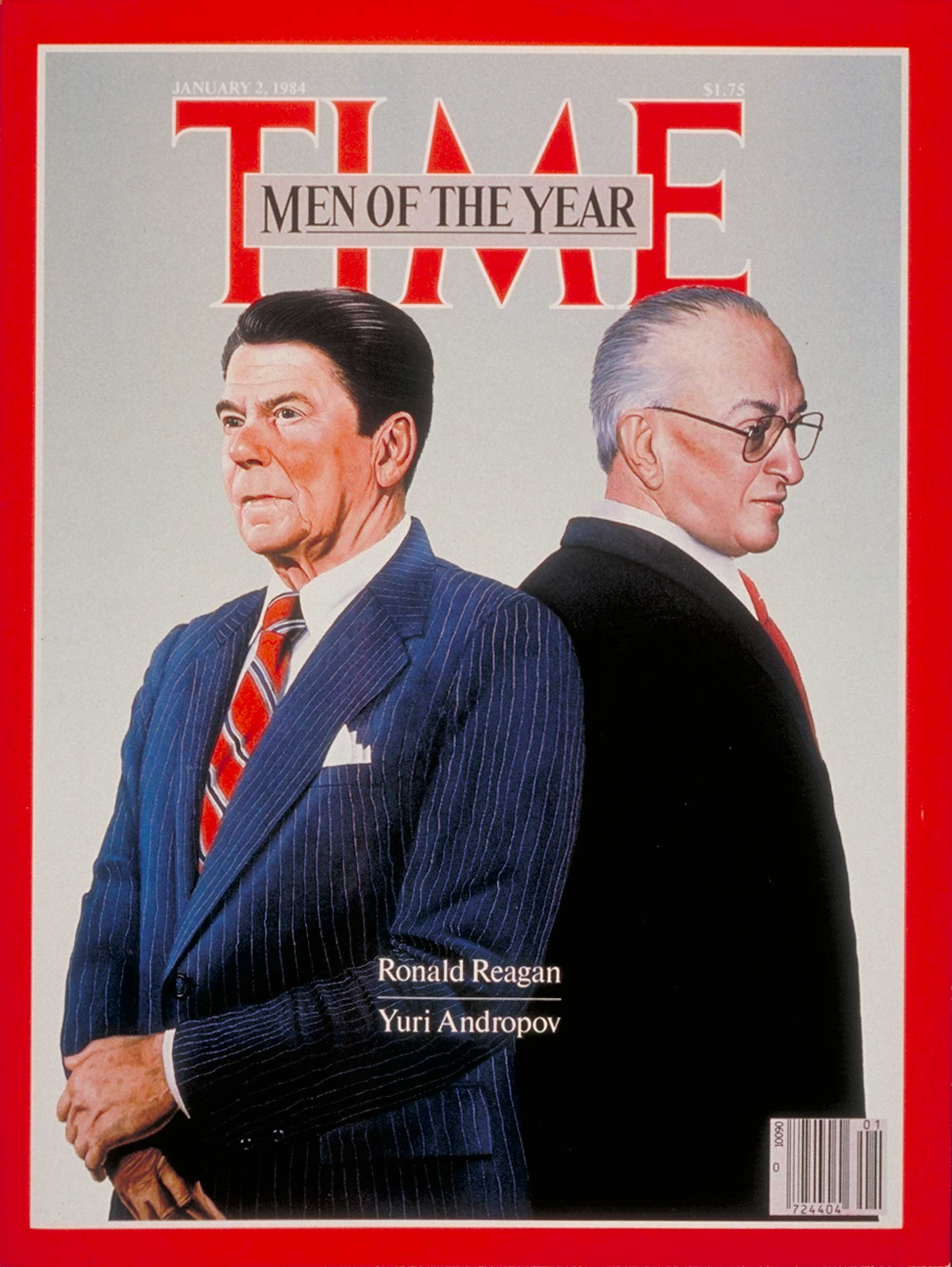 1983: President Ronald Reagan and Yuri Andropov